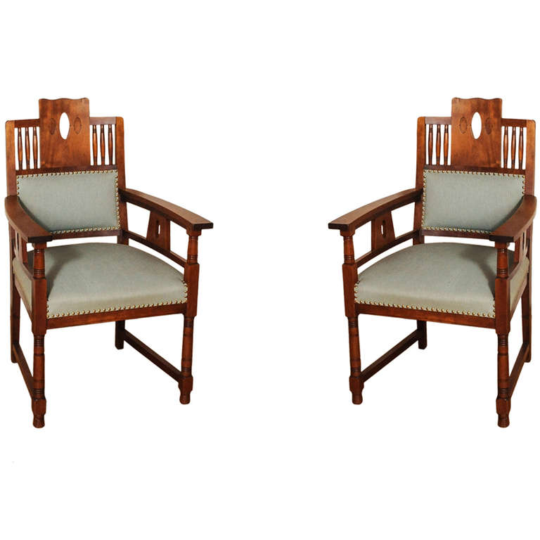 Art Deco Dining Room Sets: A Dutch Art Deco Mahogany Dining Room Set Of A Table And