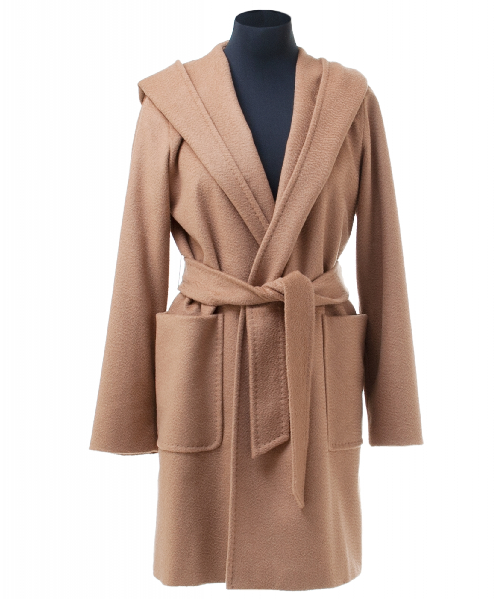 32bda4253f642 Max Mara Rialto Hooded Camel Hair Wrap Coat