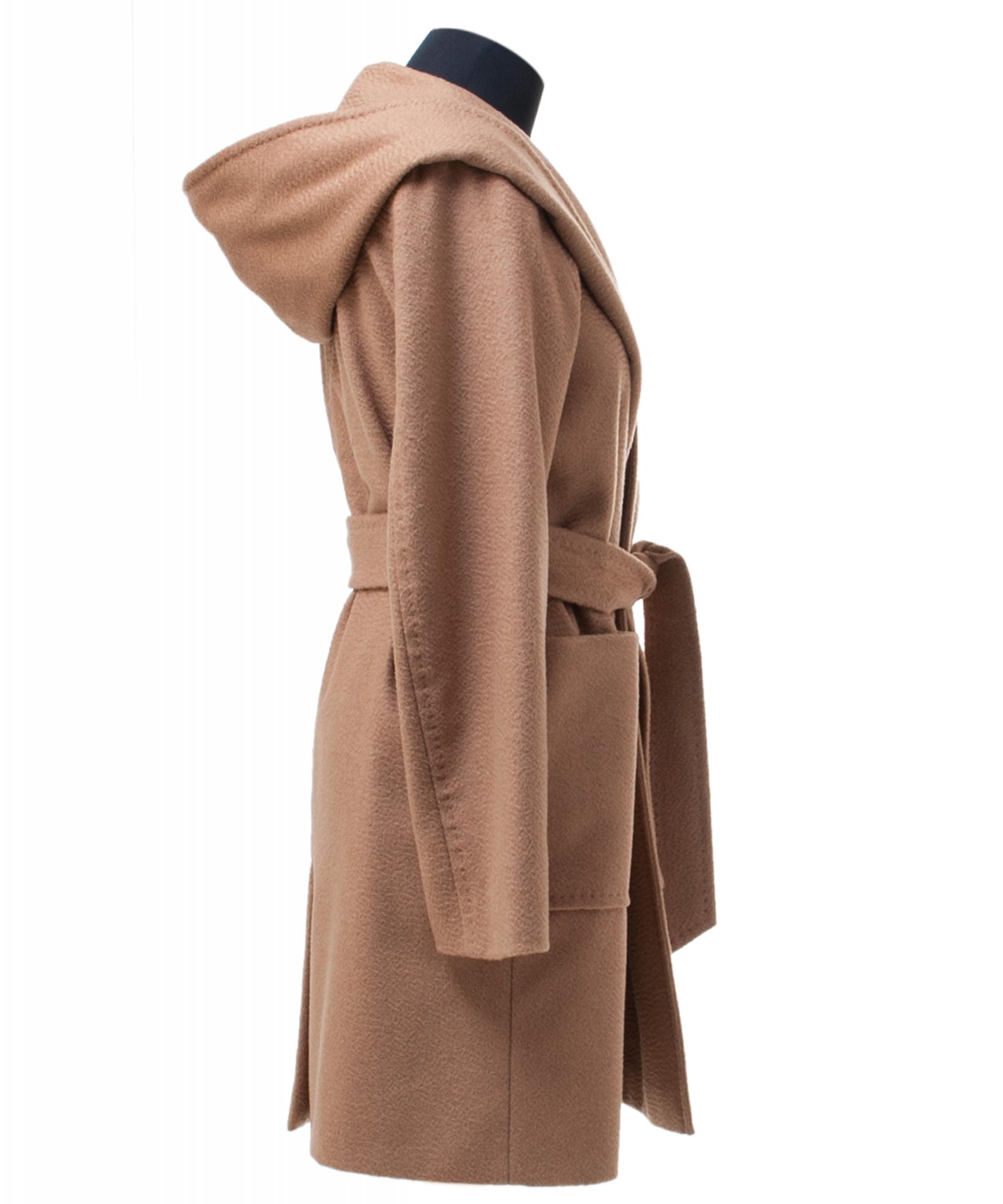 c4c59092b3d ... Max Mara Rialto Hooded Camel Hair Wrap Coat. Tap to expand