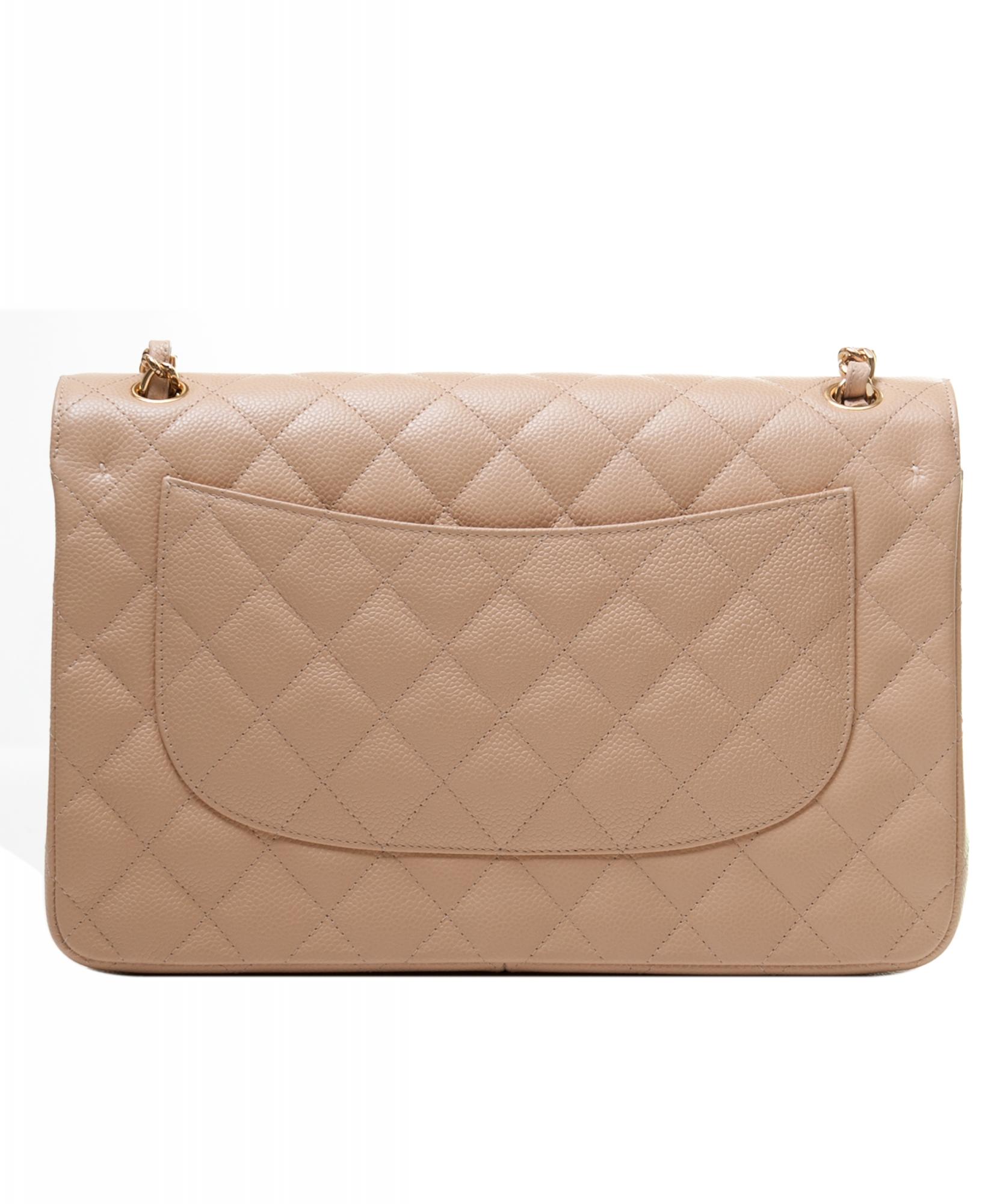 e9641a6cd806 Chanel Jumbo Beige Caviar 2.55 Classic Flap Bag