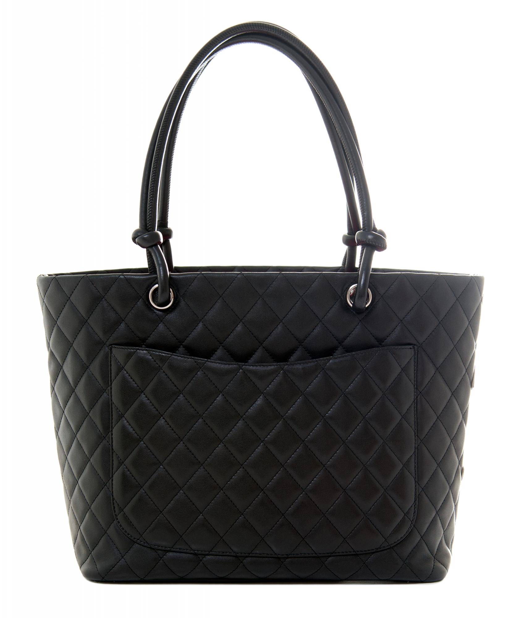 6f32e7f1c504 Chanel Black Leather Ligne Cambon Tote Bag | La Doyenne