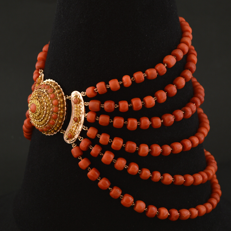 Antique Coral Necklace Artlistings