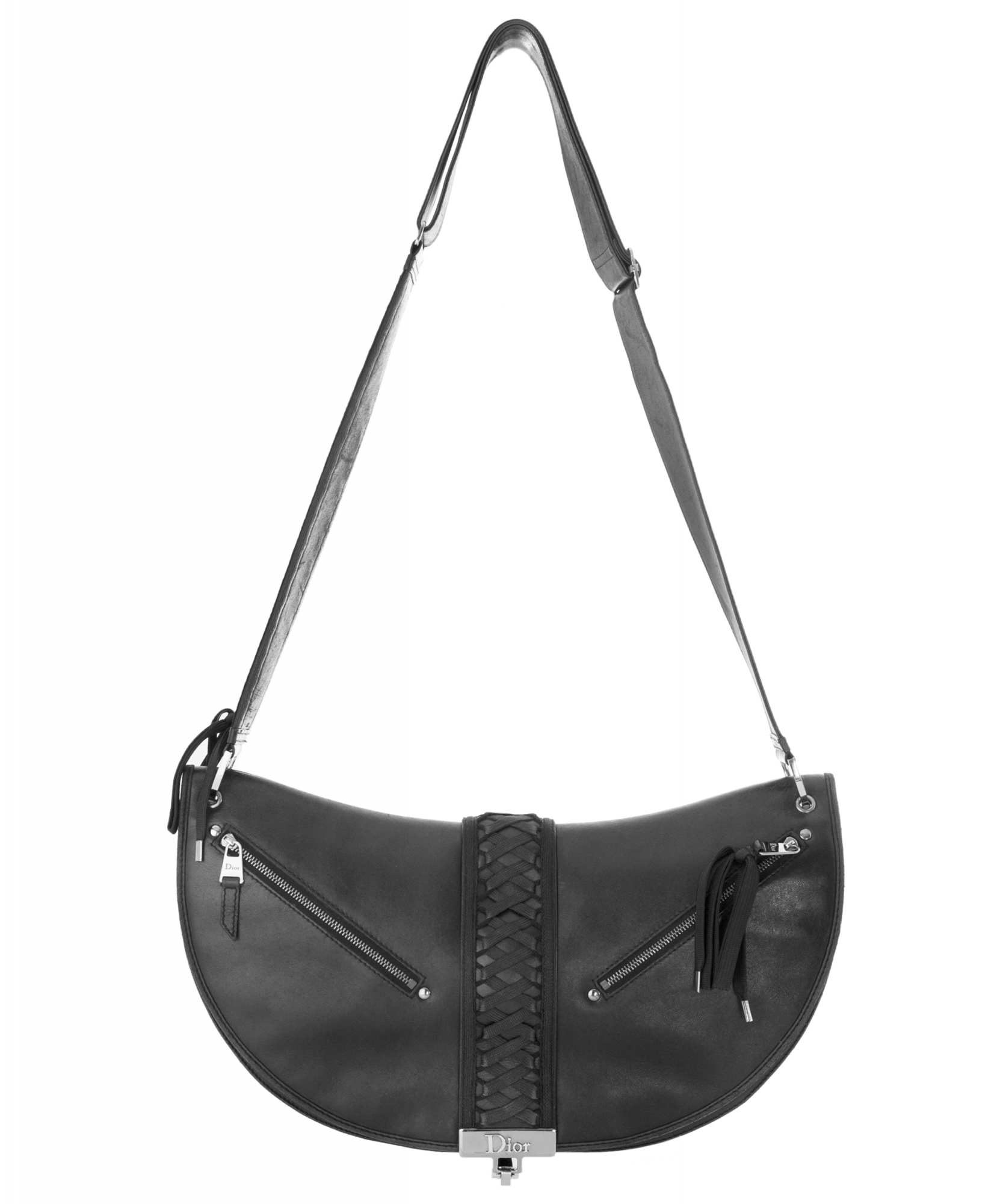 Christian Dior  Admit It  Black Leather Hobo Shoulder Bag  9dfc0b5e0b6f2