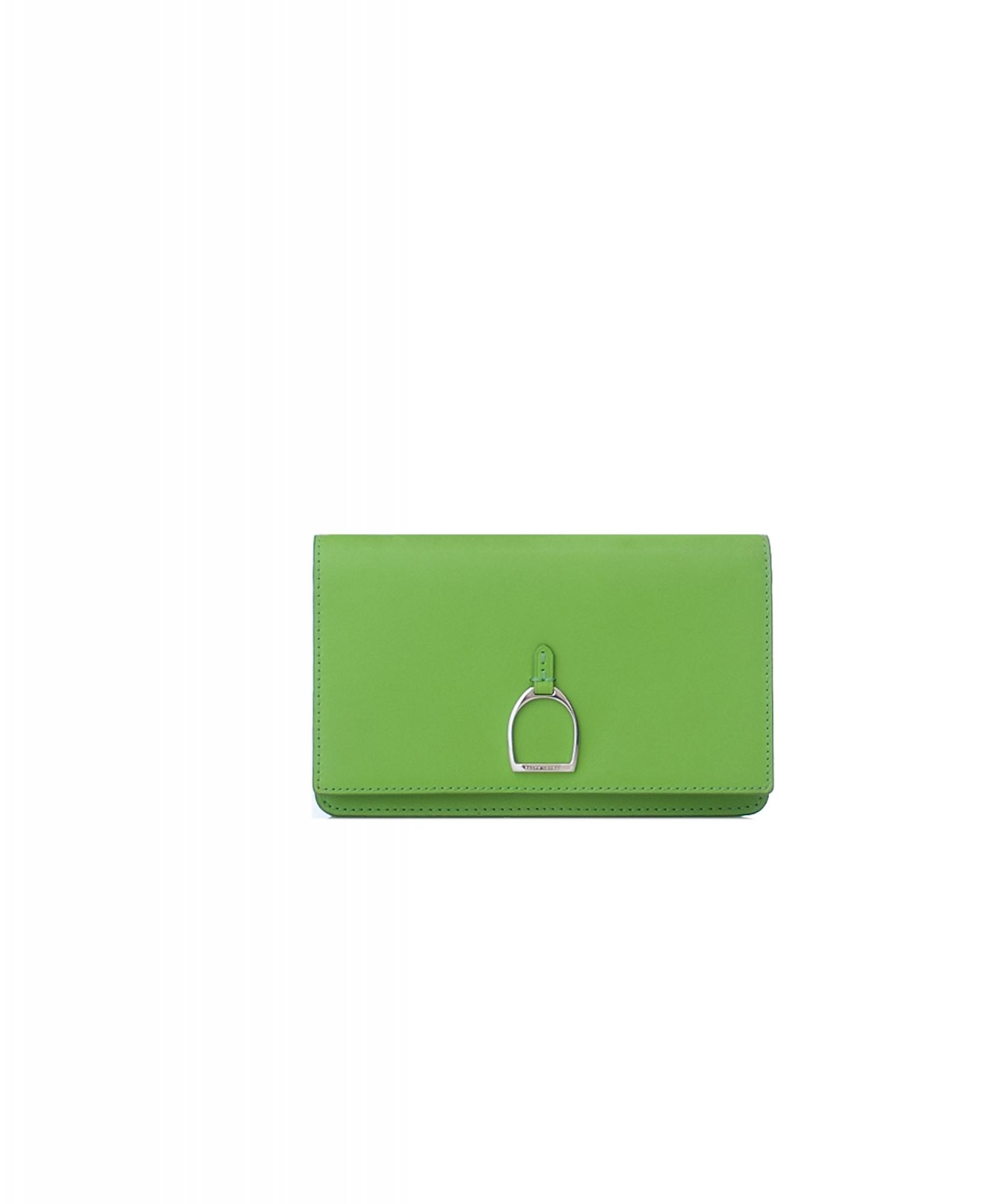 ... Ralph Lauren Green Vachetta Stirrup Crossbody Bag 0d8bdd411eef9