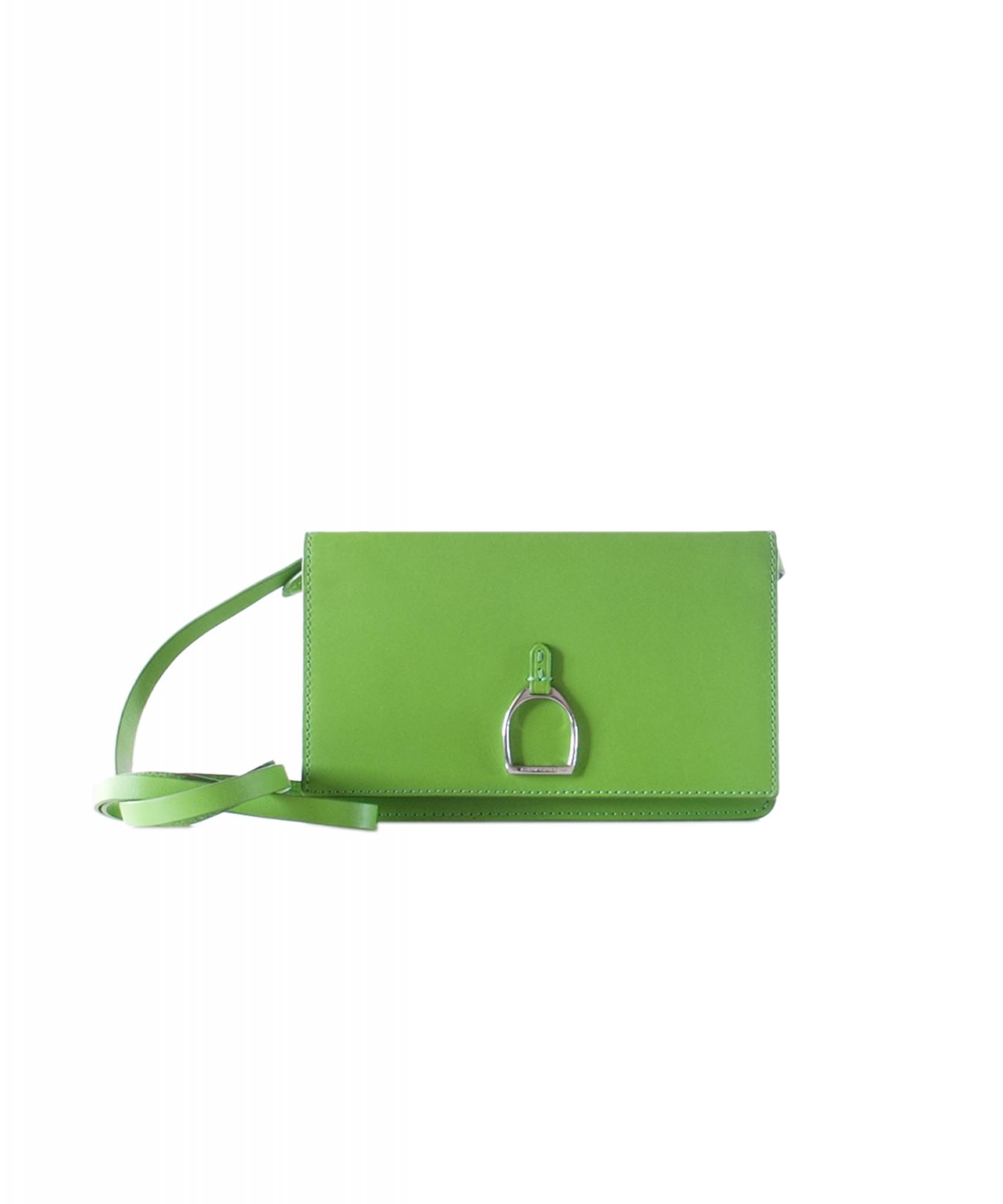 Ralph Lauren Green Vachetta Stirrup Crossbody Bag  fde5672f16ed6