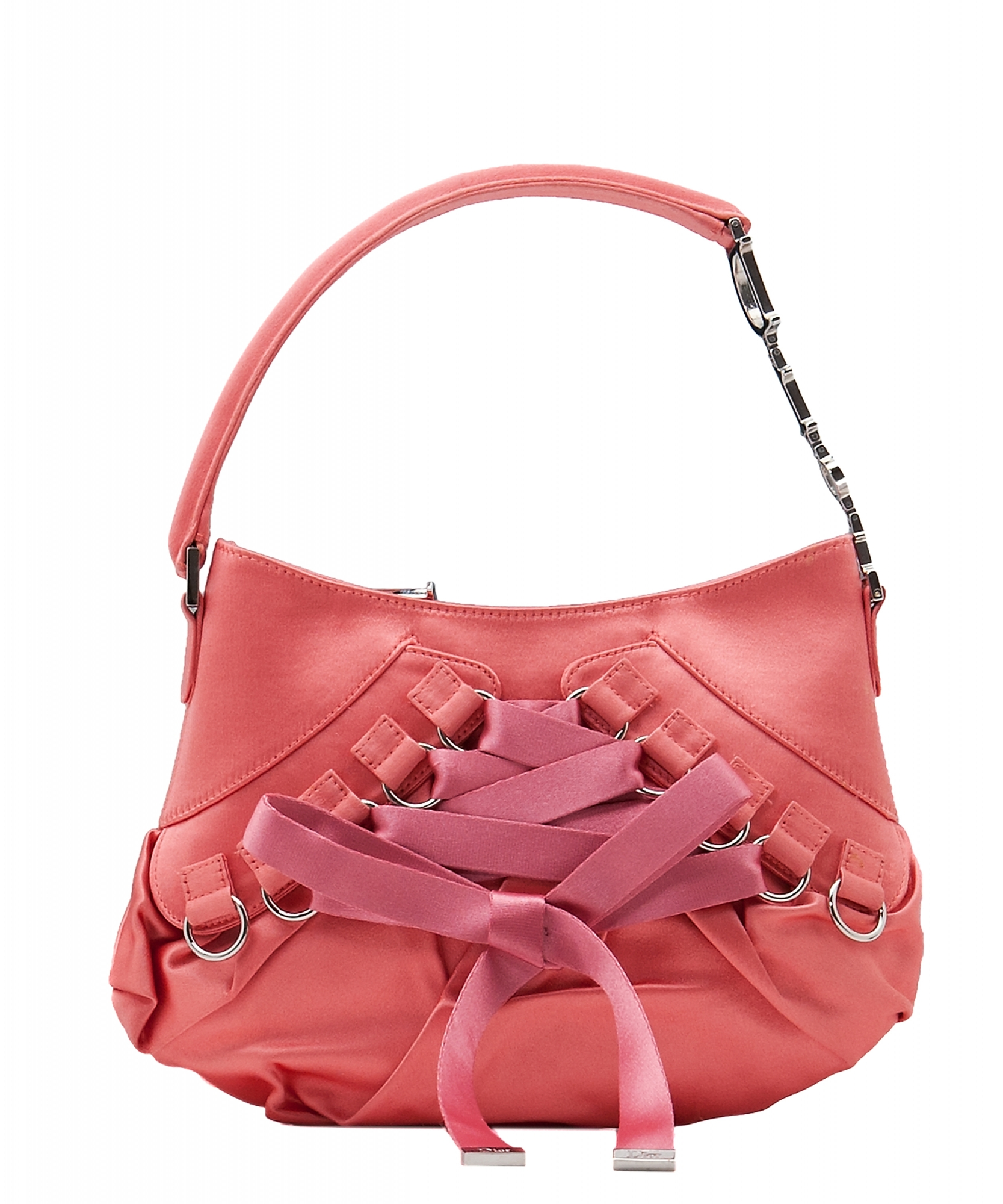 b111dfe5e6d11 Christian Dior Pink Satin Ballet Evening Bag | La Doyenne