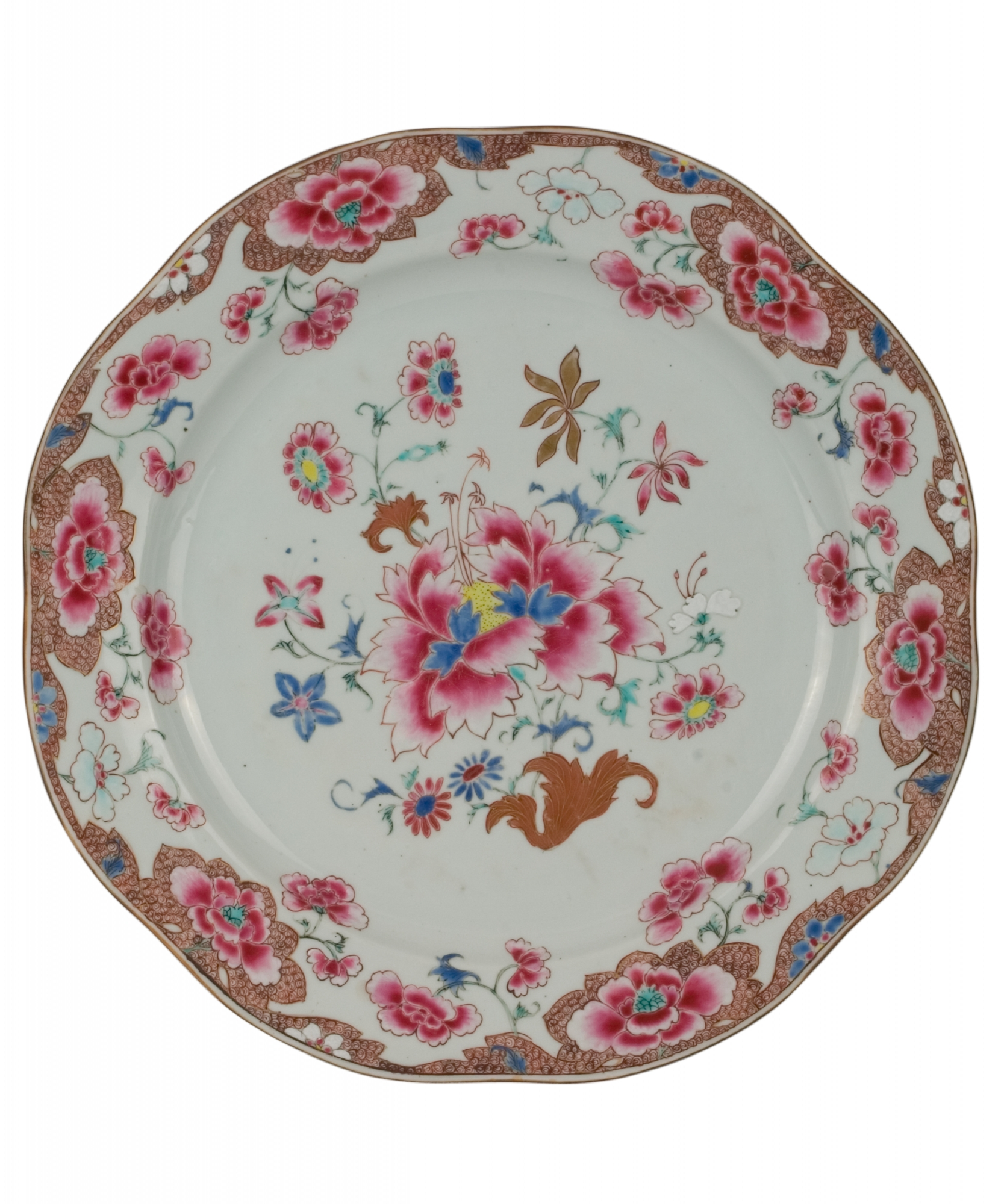 A pair famille rose dishes artlistings for Cuisine rose