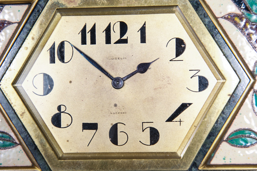 Very Unusual And Decorative Art Deco Wall Clock Circa 1920