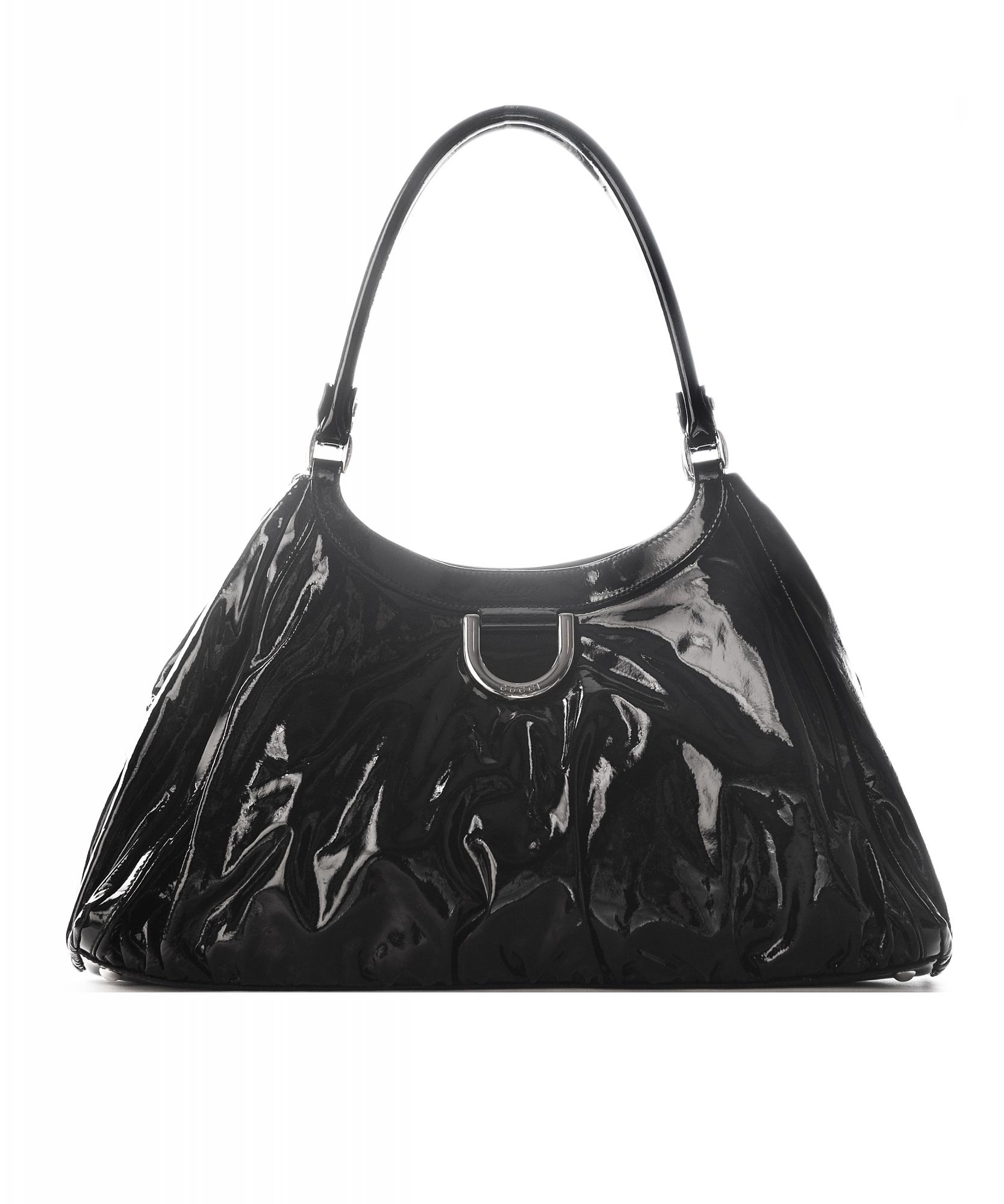 c5908fe4880b Gucci Black Patent Leather D Ring Hobo Bag   La Doyenne