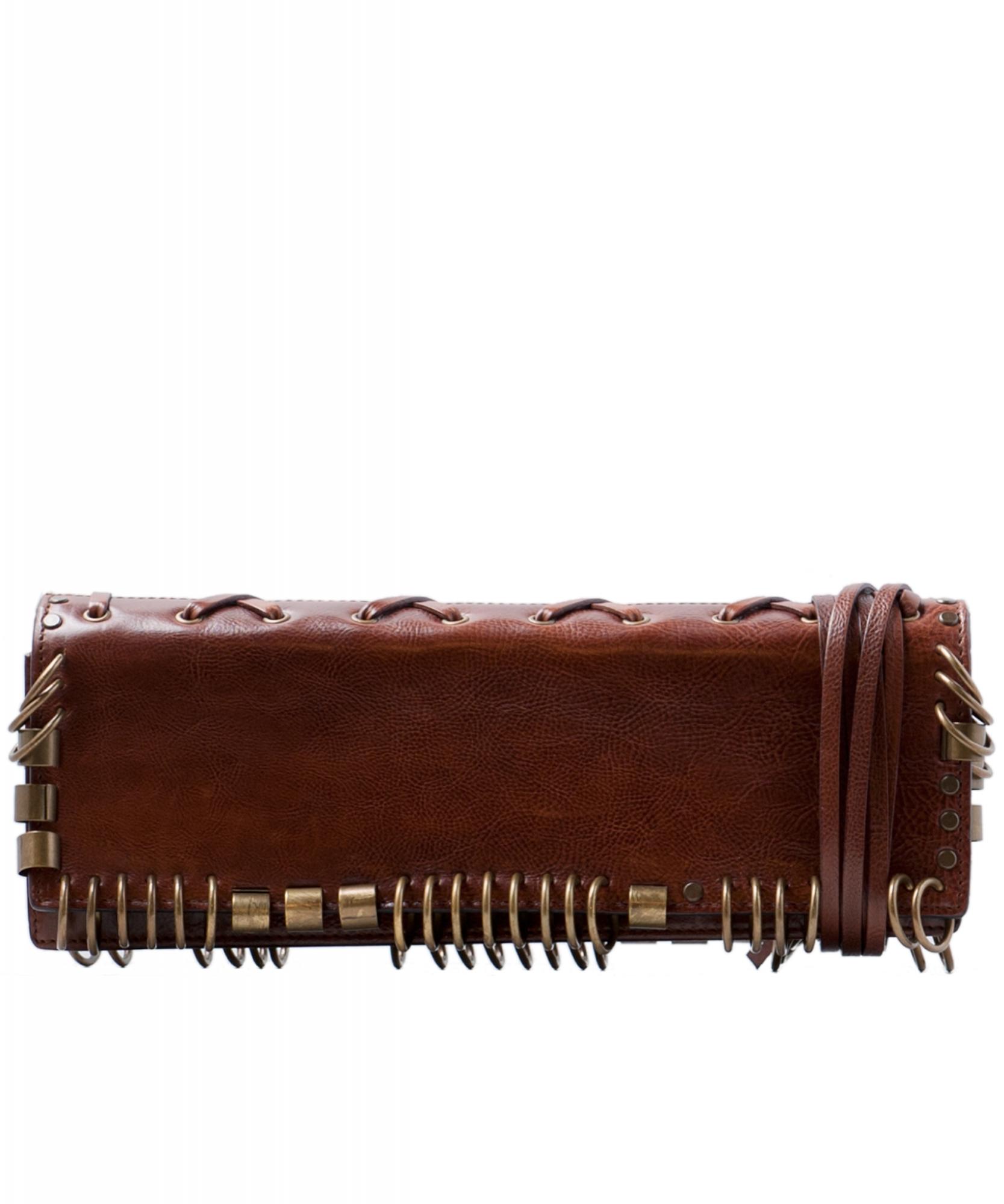 53ea67ded50 Yves Saint Laurent Brown Leather Clutch | La Doyenne