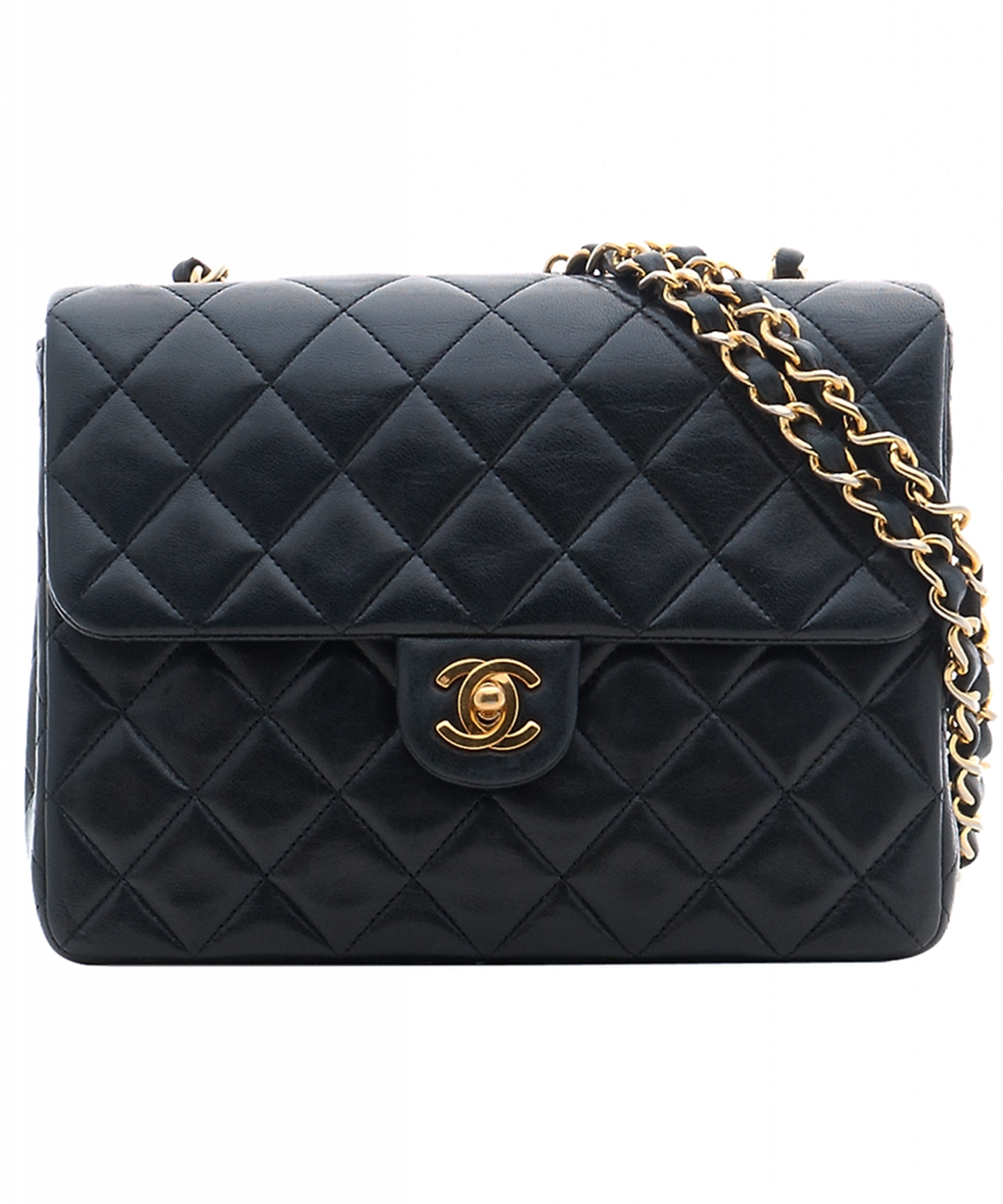 Chanel Handbag Black Leather Jaguar Clubs Of North America