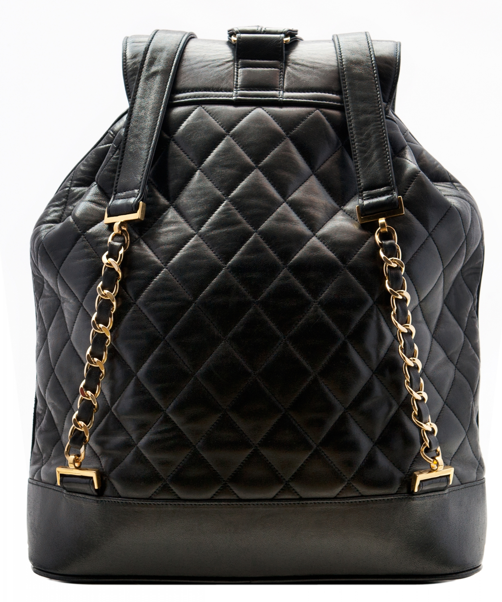 f2c782905588fd Chanel Black Lambskin Leather Jumbo Backpack | La Doyenne