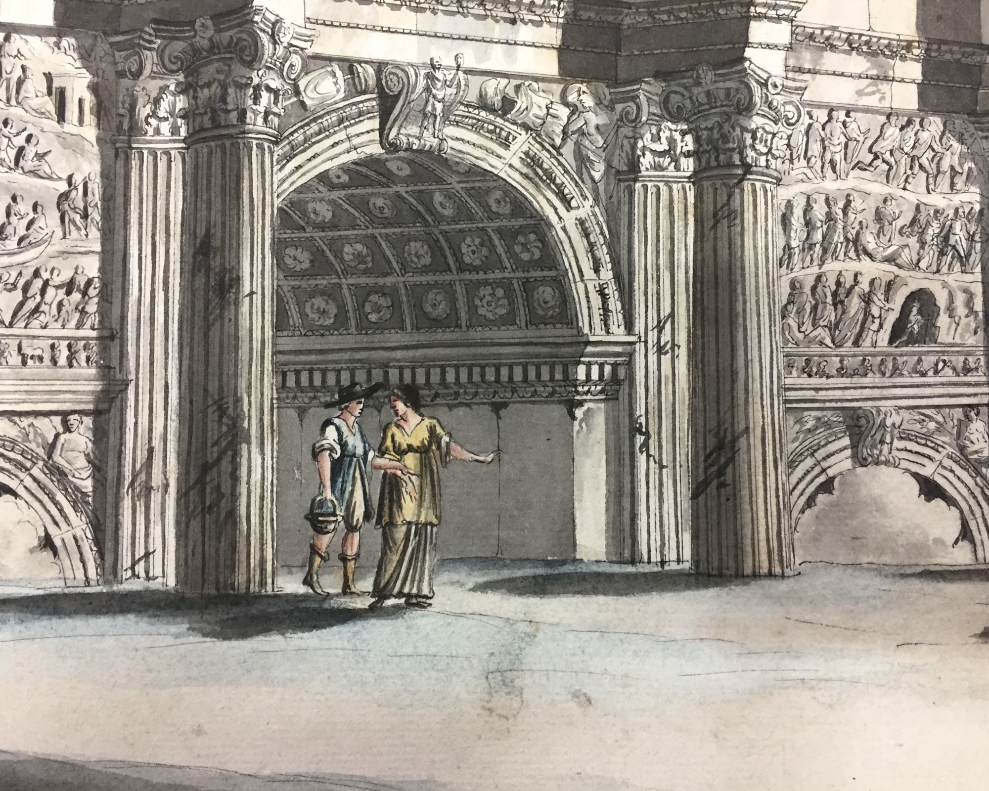 The arch of Septimius Severus | ArtListings