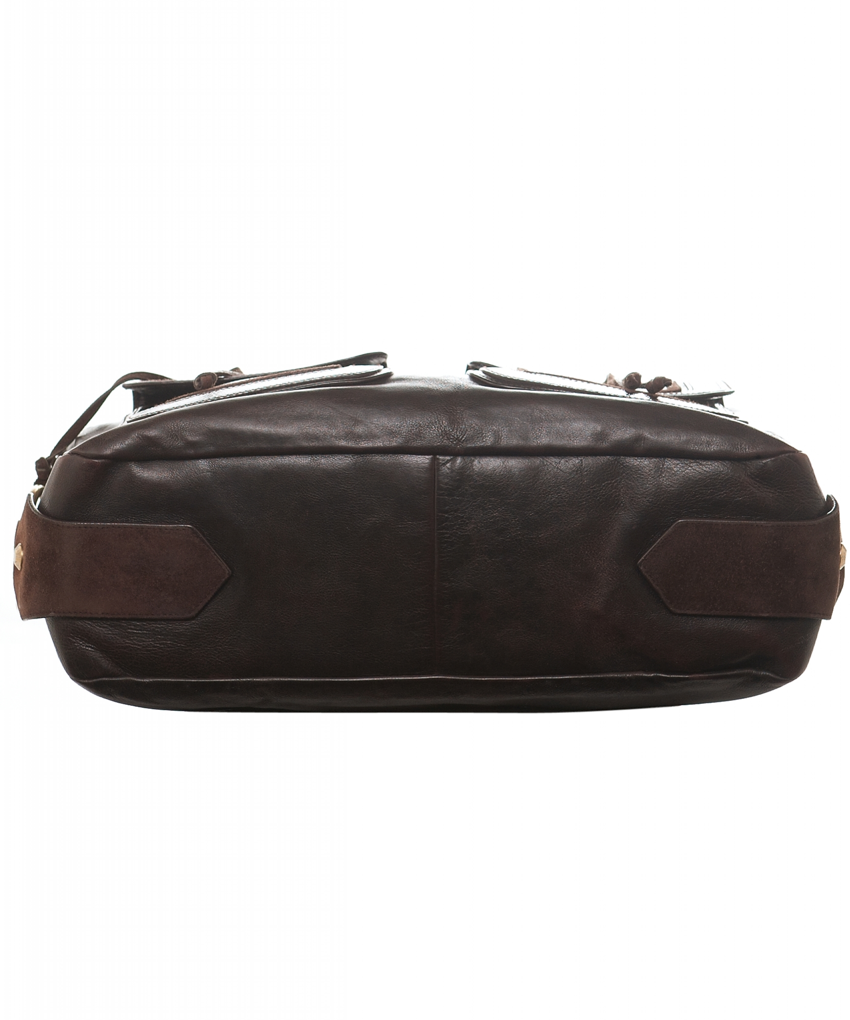 fa61b82bdf ... Yves Saint Laurent 'Rive Gauche' Brown Leather Shoulder Bag. Touch to  zoom