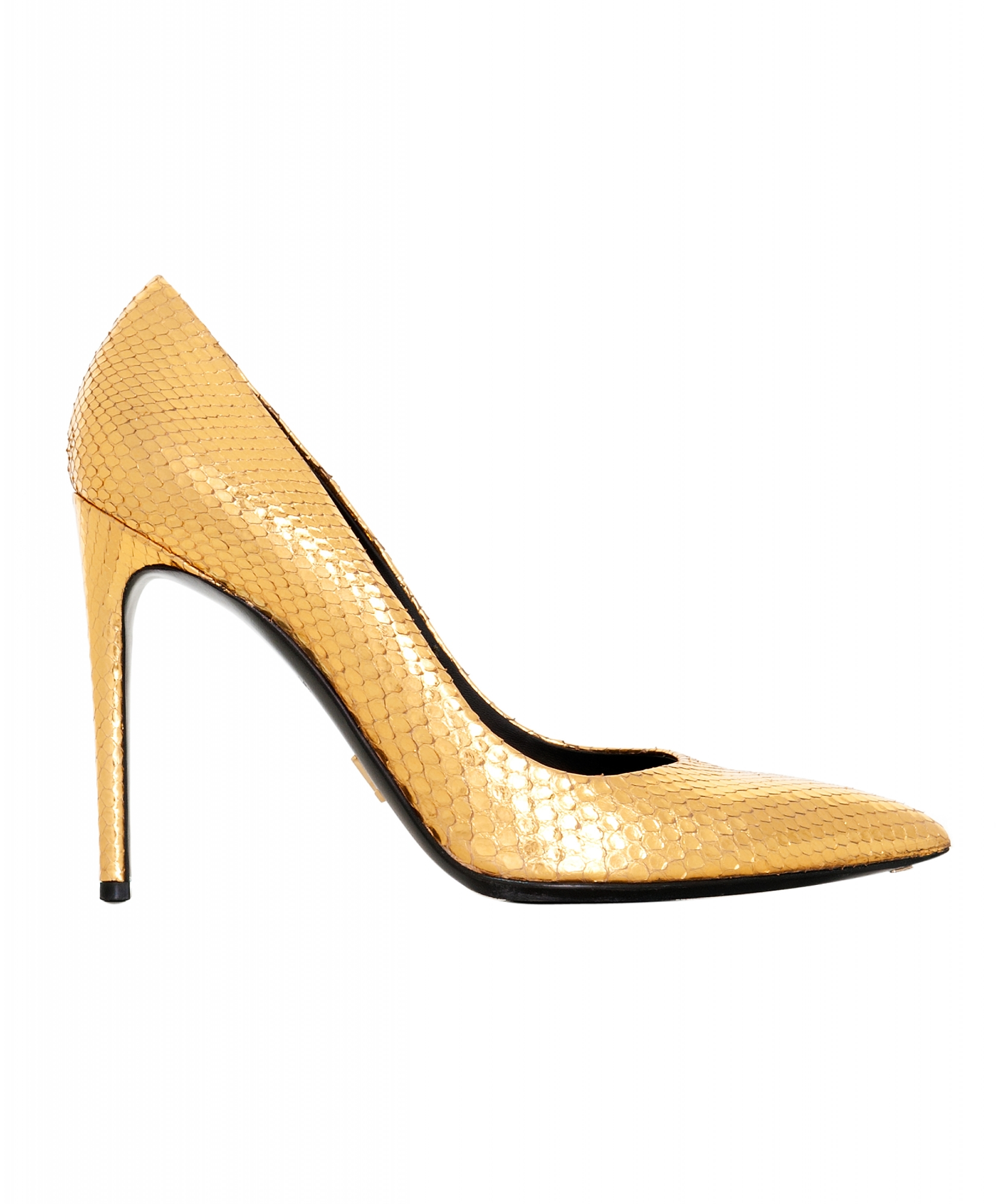 Louis Vuitton Gold Python Leather Pumps