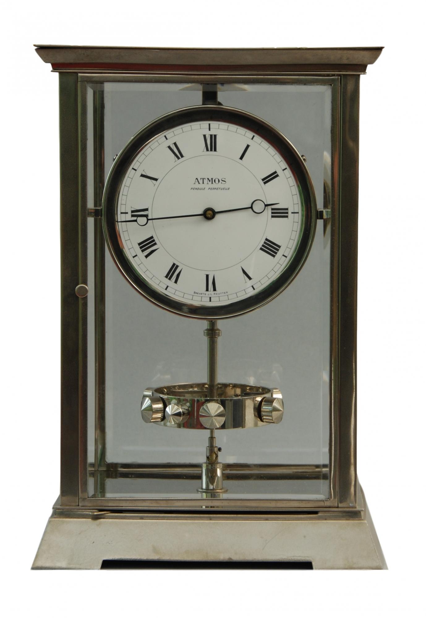 M204 Nickel Art Deco Style J L Reutter Atmos Four Glass Atmos Clock Tall Version Artlistings