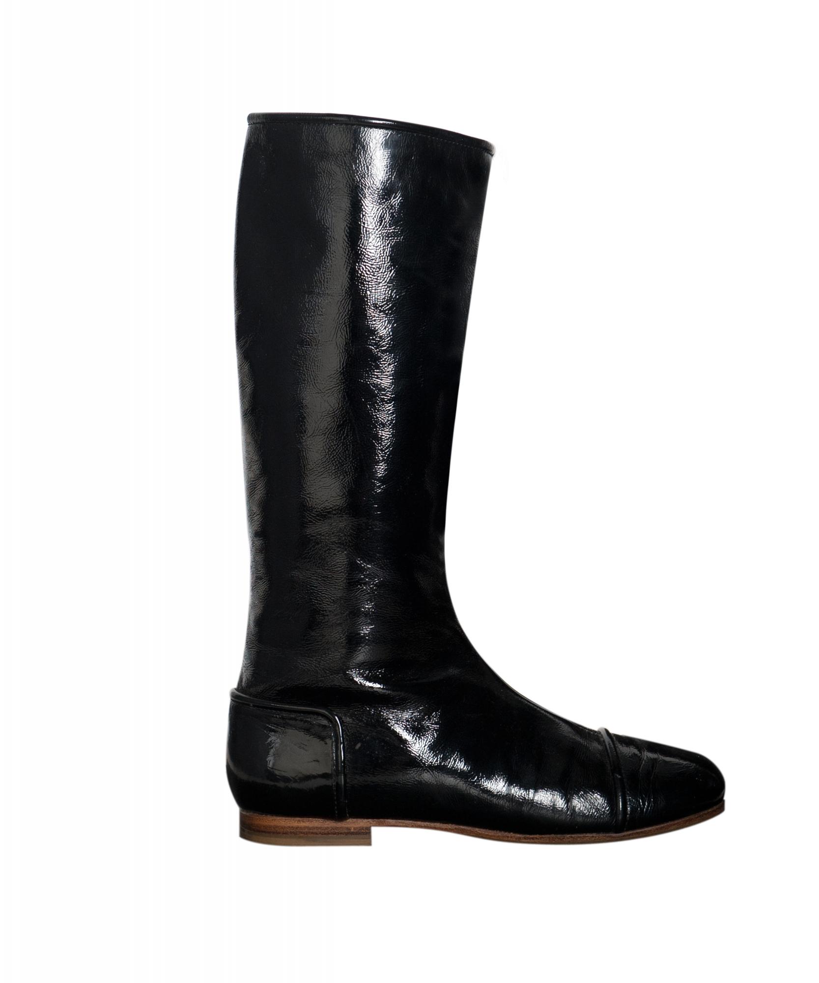 Courrèges Patent Leather Go-Go Boots