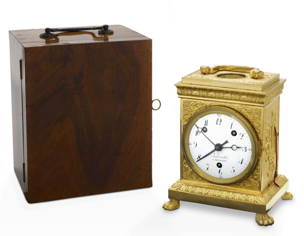een zwitserse pendule d officier 8 dagen grande sonnerie circa1810 met de originele. Black Bedroom Furniture Sets. Home Design Ideas