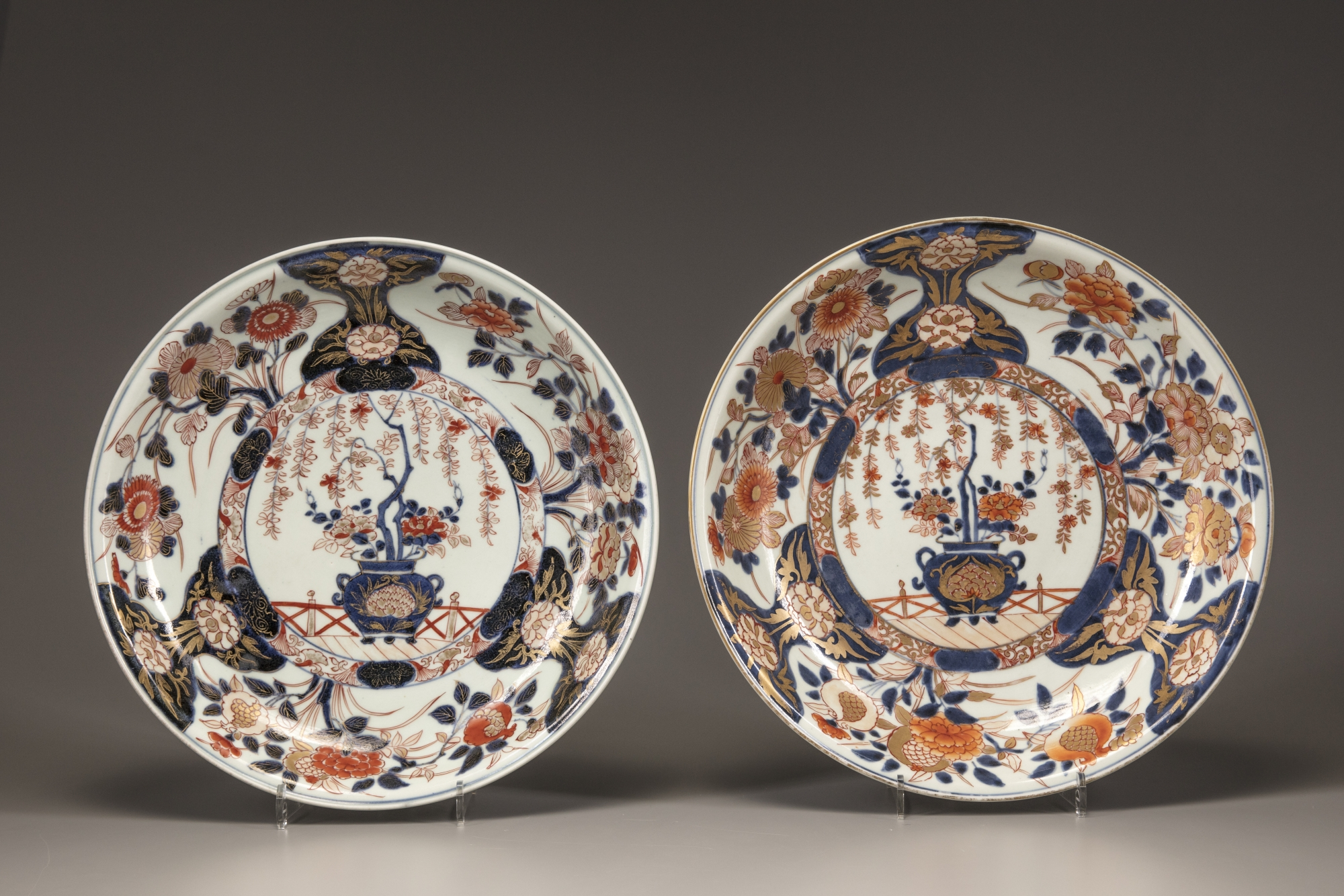 Hover to zoom & Two Imari plates | OAA