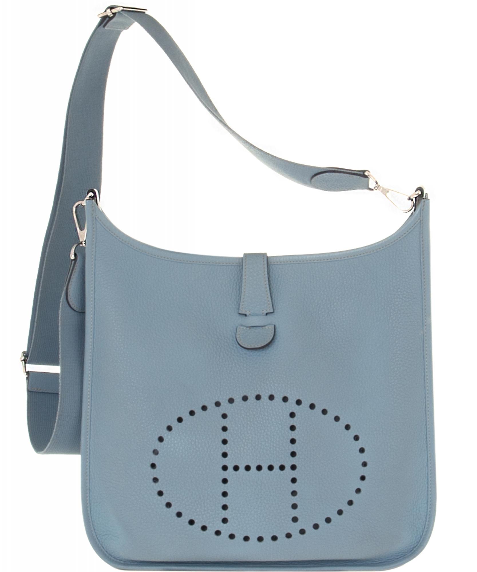 719887cb61f6 ... switzerland hermès ciel blue evelyne iii 33 bag. tap to expand bb368  1540b