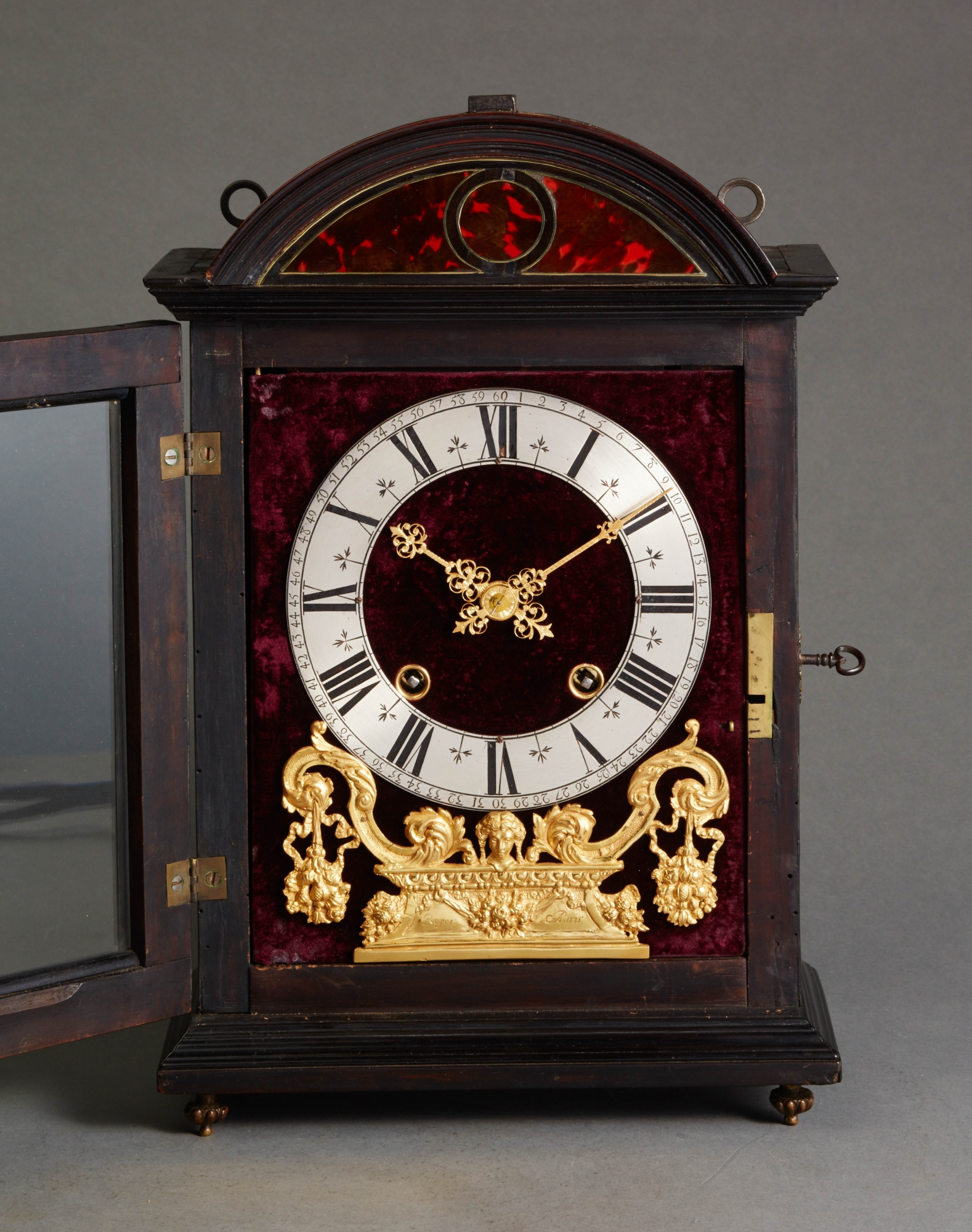 late 17th century louis xiv religieuse clock signed. Black Bedroom Furniture Sets. Home Design Ideas