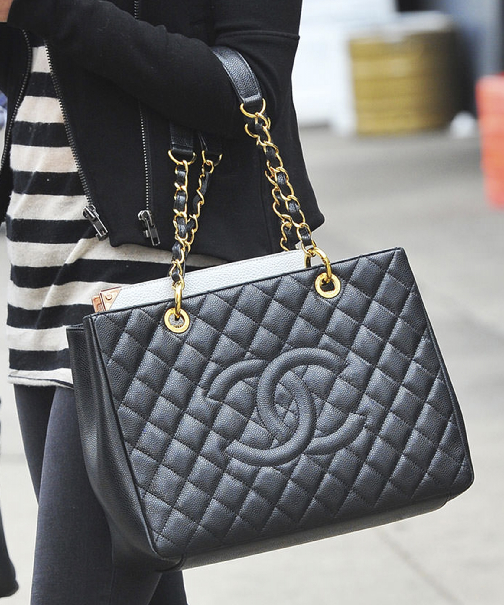 358e0dfab61d Home · Bags · Totes  Chanel Black Caviar GST Grand Shopping Tote GHW. Tap  to expand