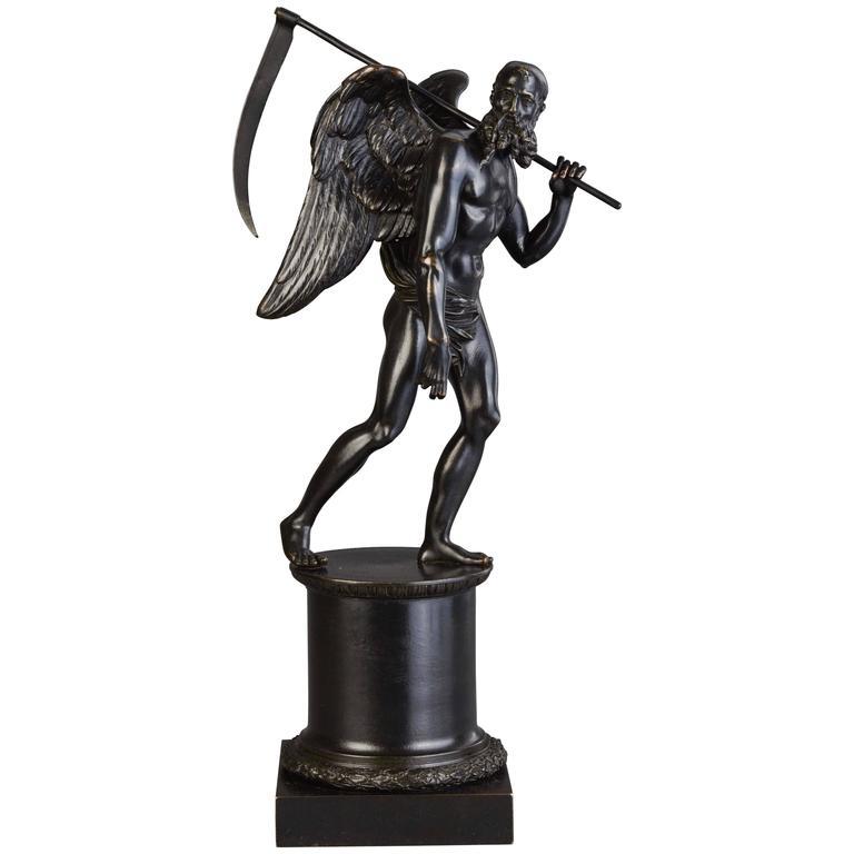A Bronze Statue Of Kronos Cronus Circa 1820 Toebosch