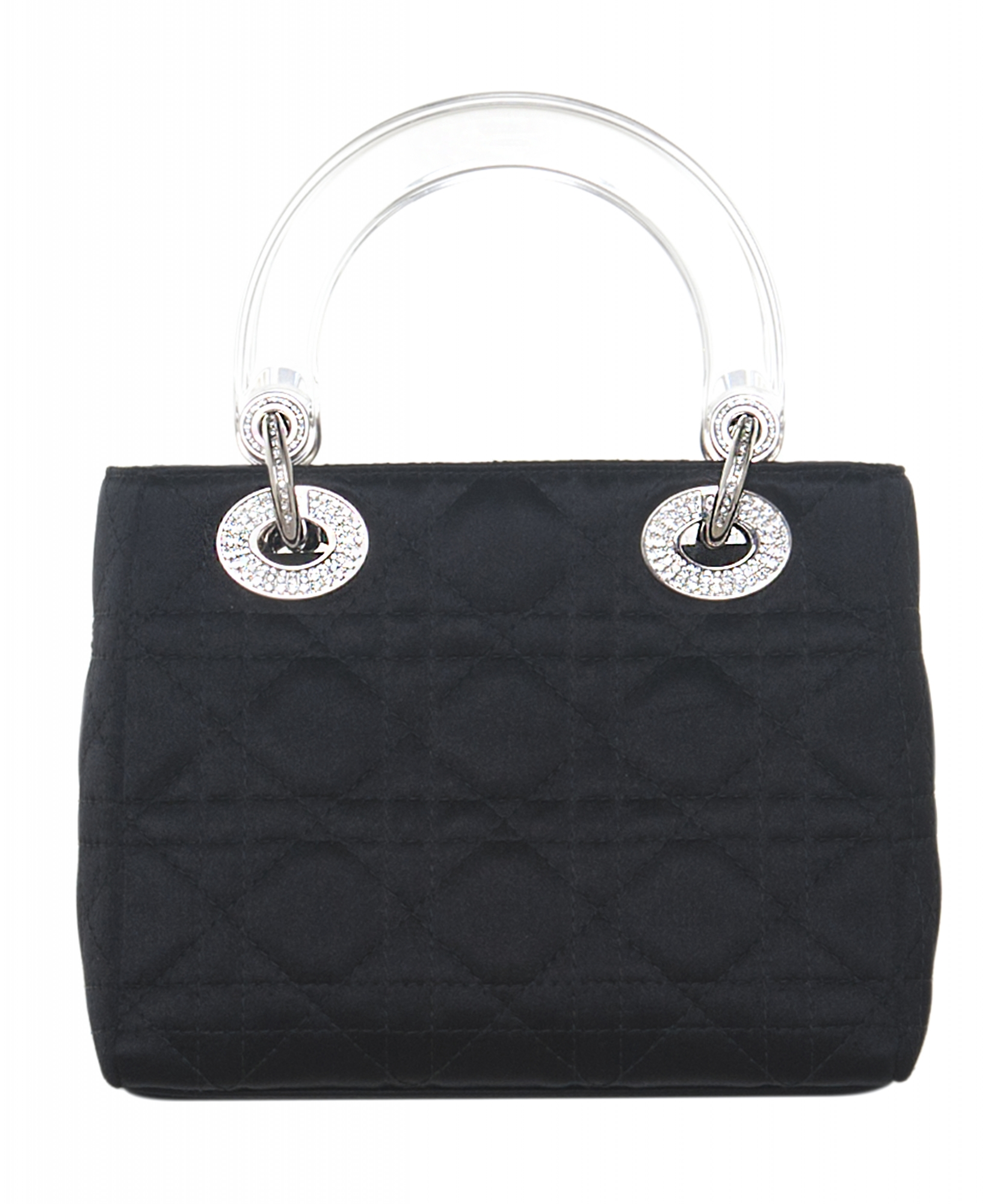 7fbf2638e4 Christian Dior Mini Satin 'Lady Dior' Bag | La Doyenne