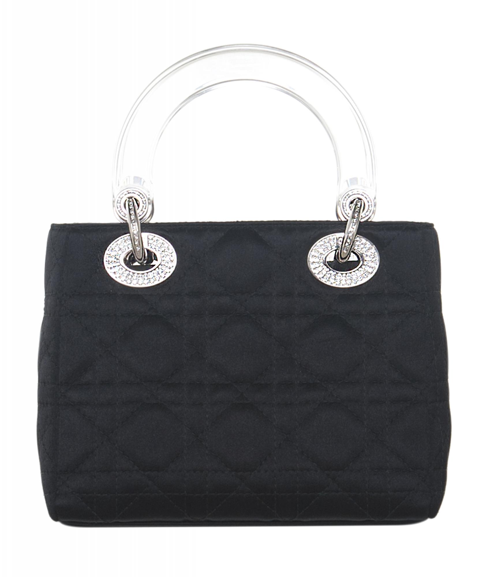 Christian Dior Mini Satin  Lady Dior  Bag  9b9c7586f1119