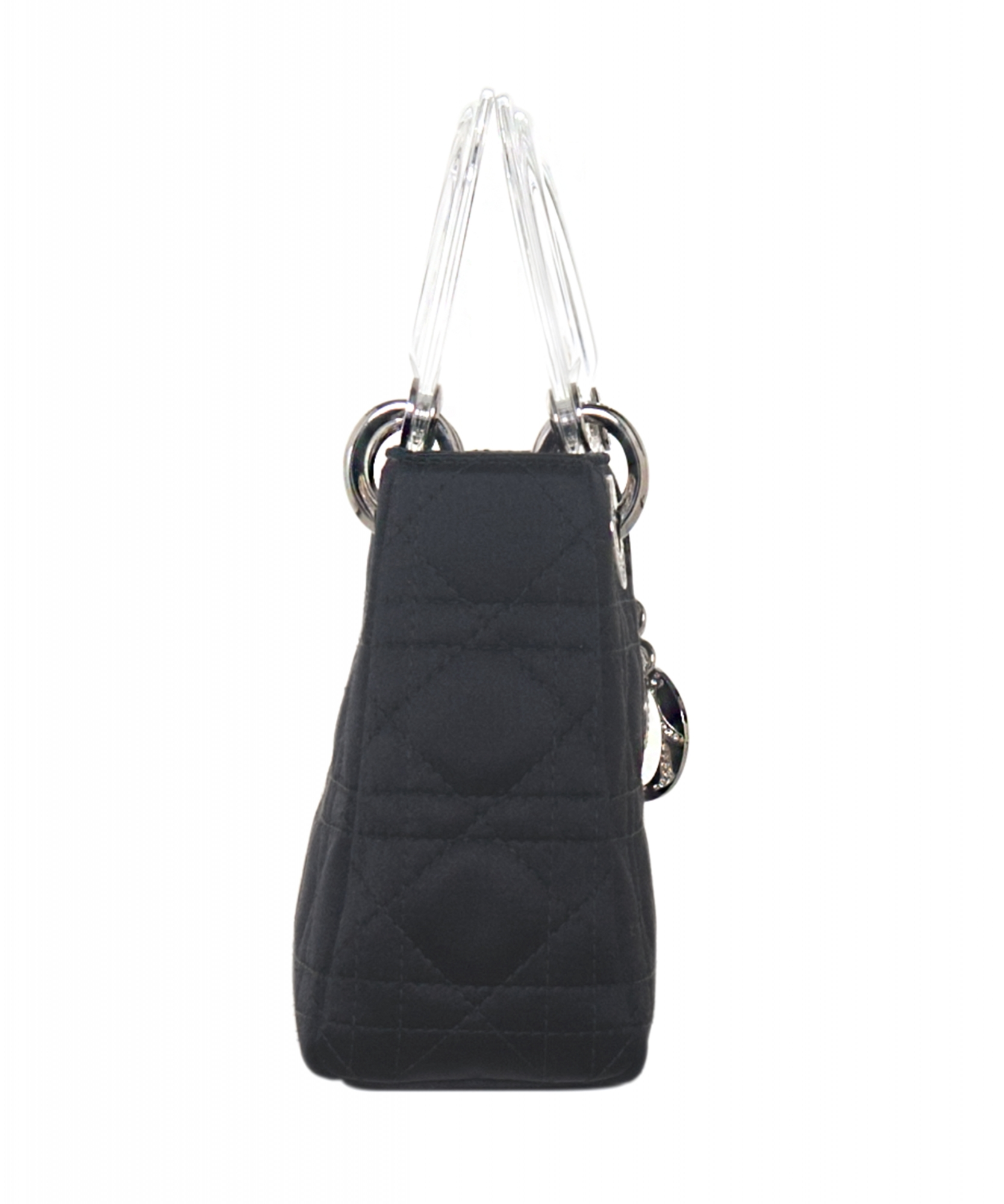 d6c593005d2 ... Christian Dior Mini Satin 'Lady Dior' Bag. Touch to zoom