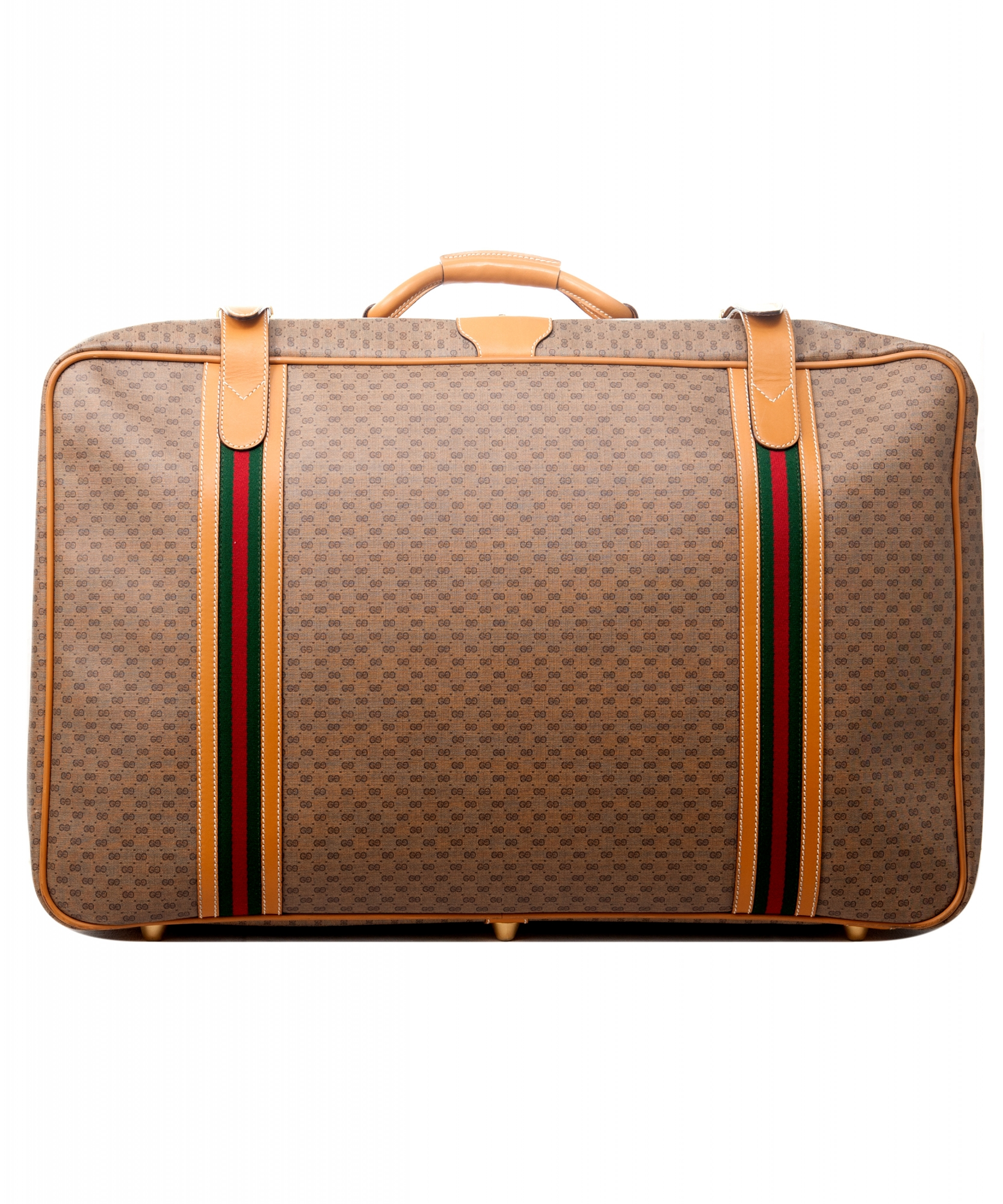 c742327a7ac Gucci Web GG Monogram Canvas Suitcase ...