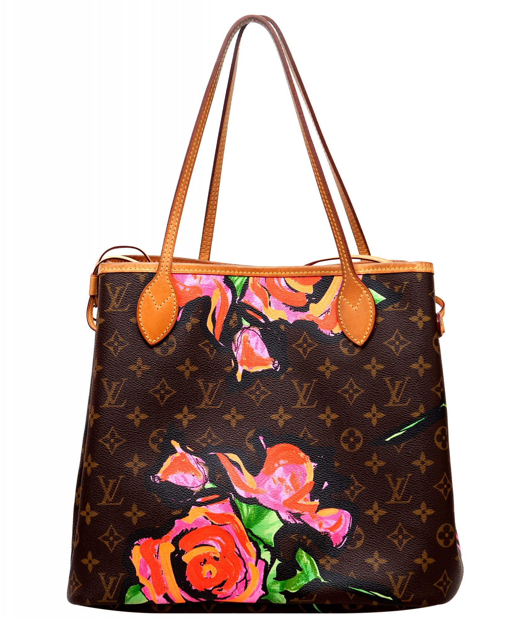 b8b54f034b3e ... Louis Vuitton Monogram Graffiti Roses Neverfull MM Bag - Limited  Edition. Touch to zoom