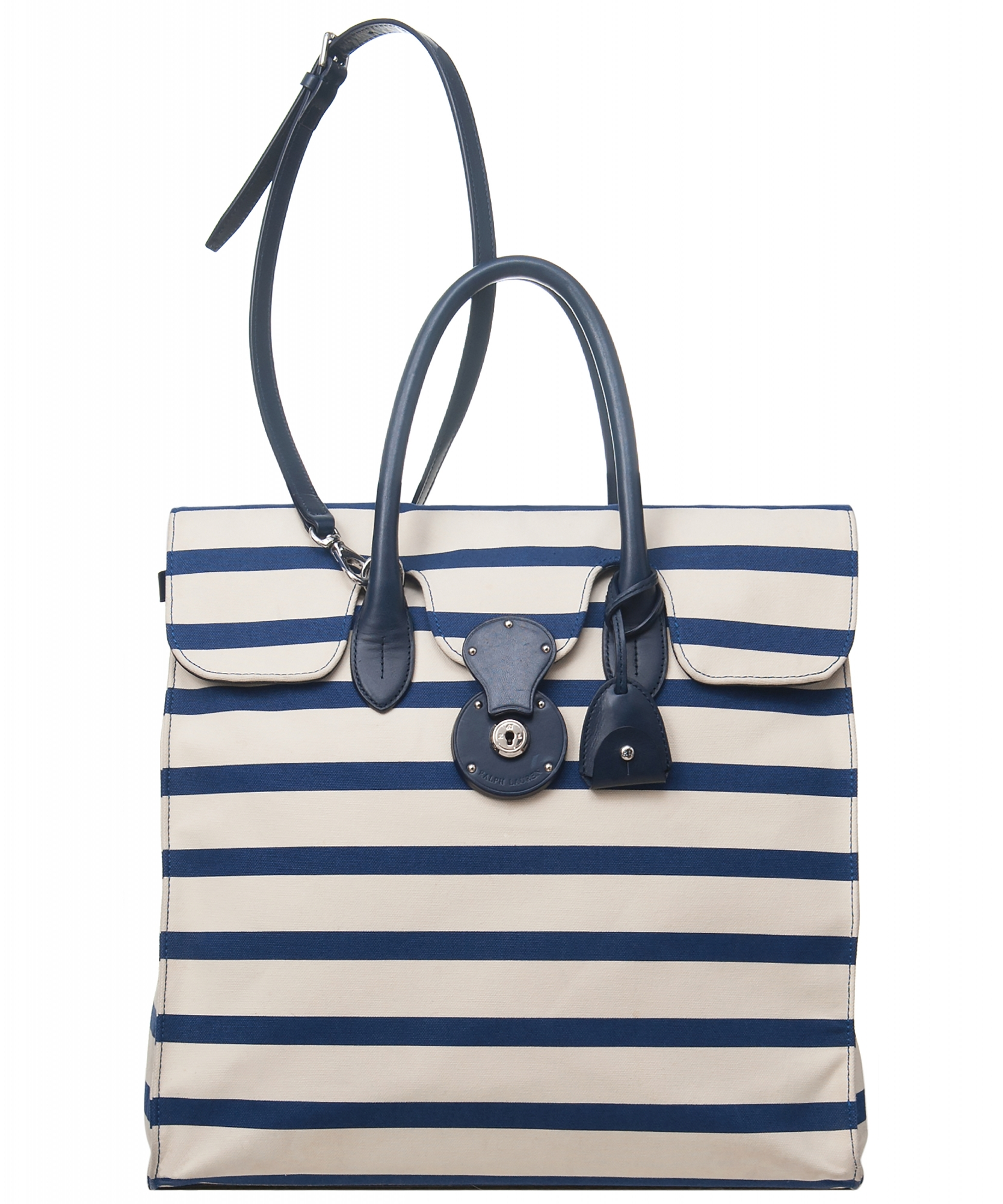 9d51df14d0 Ralph Lauren Bicolor Striped Nautical Canvas Ricky Tote. Tap to expand