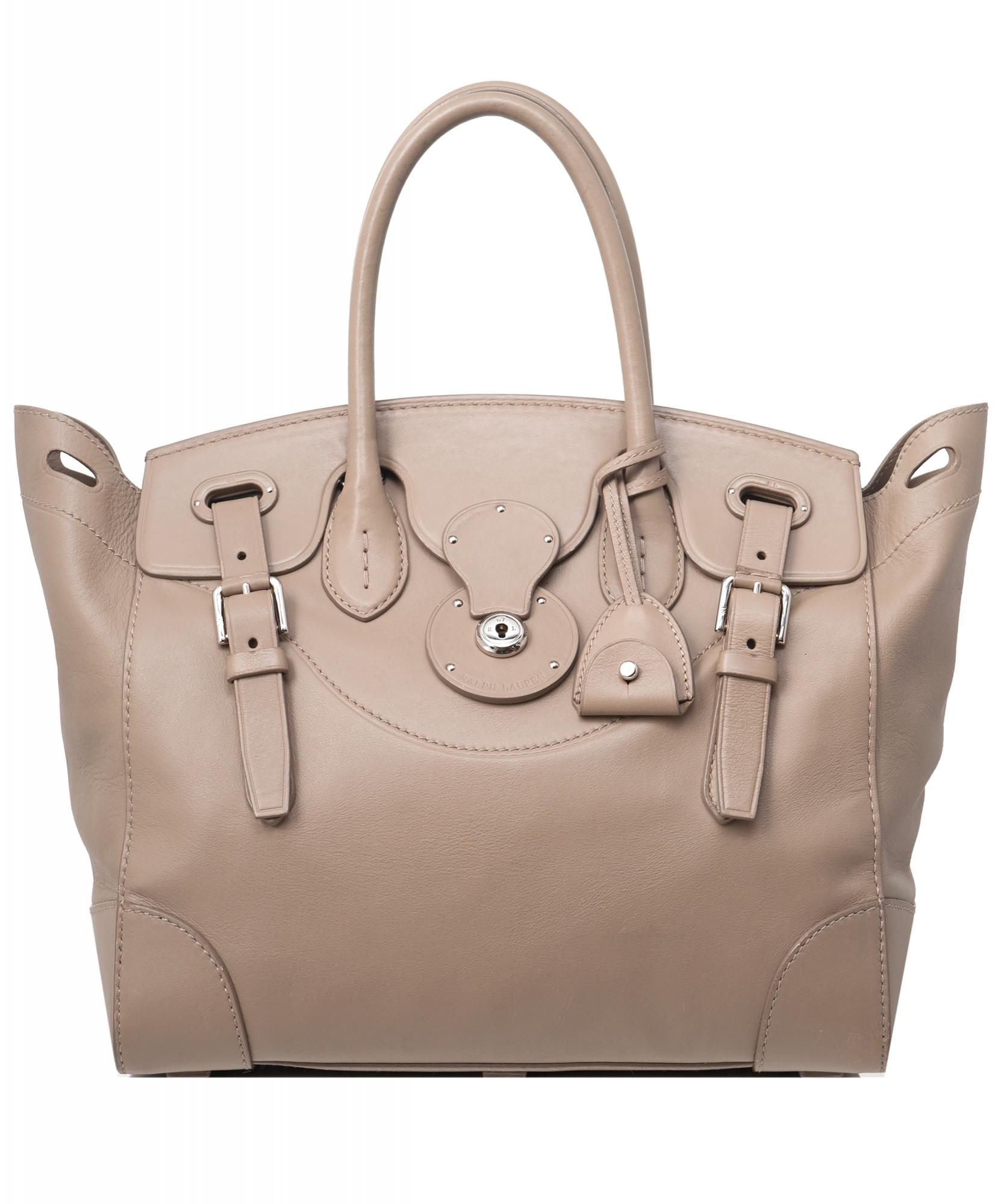 Ralph Lauren Taupe Soft Ricky Bag