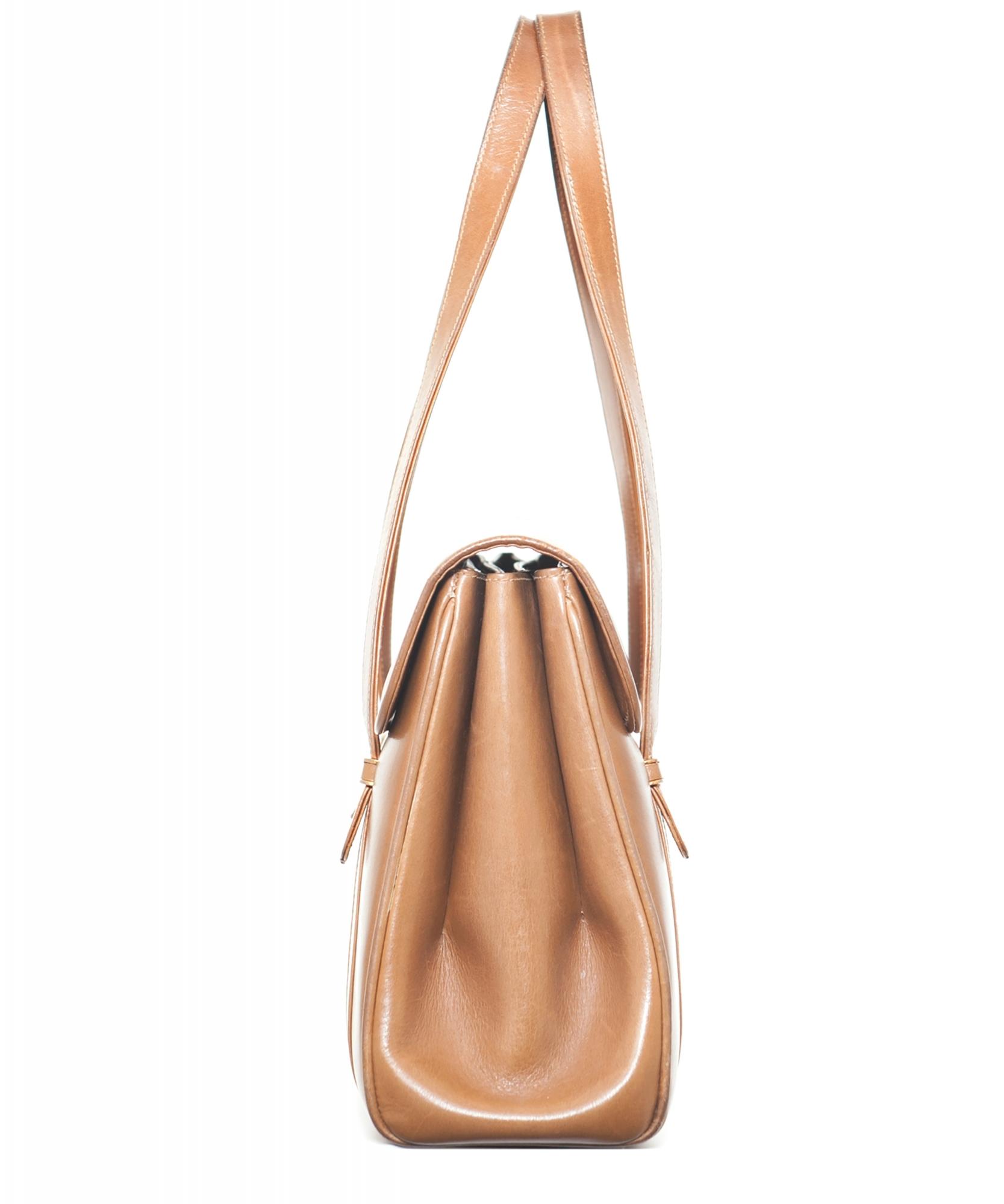 Vintage Gucci Brown Leather Shoulder Bag