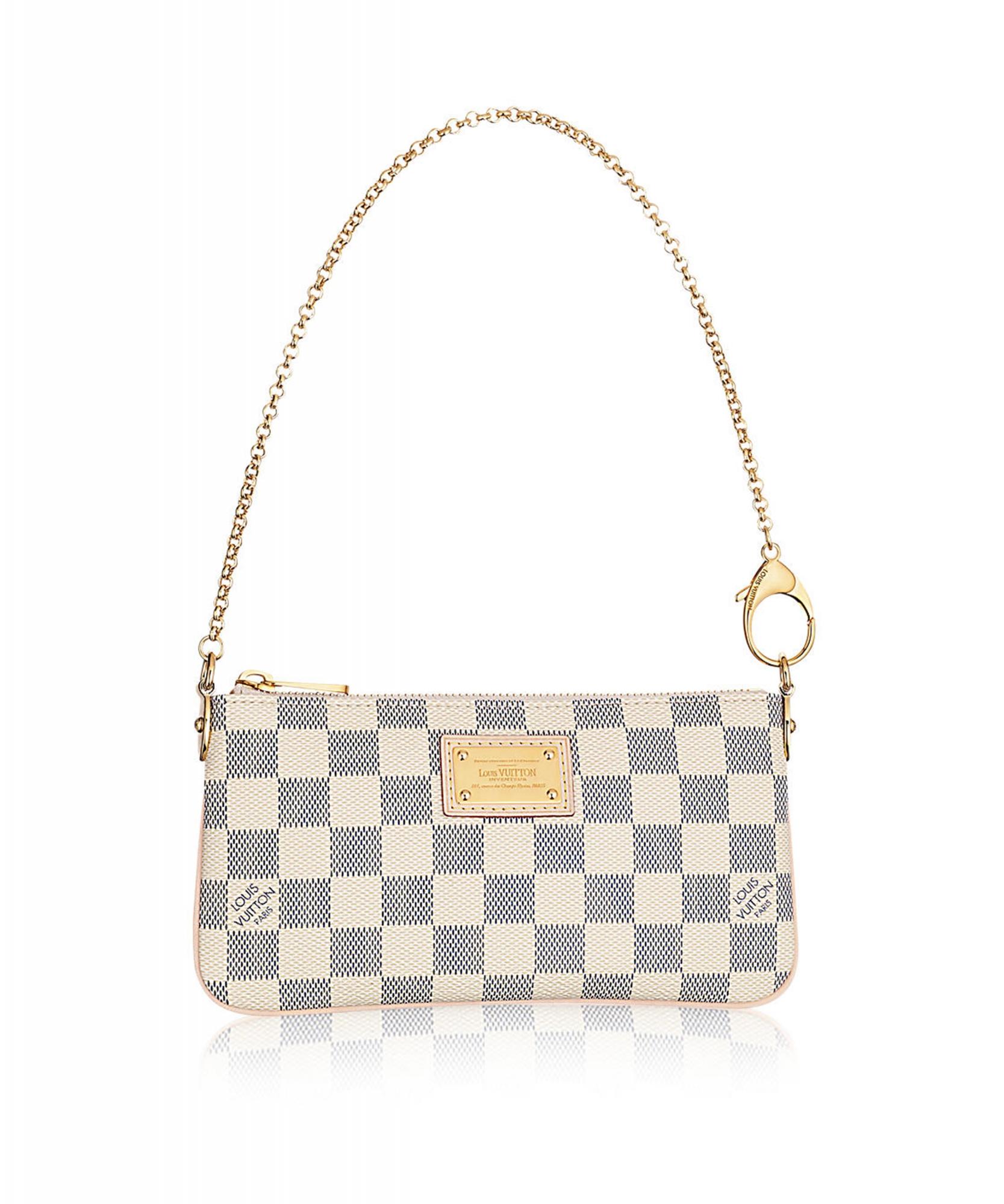 55403d9d6d3d8a Louis Vuitton Azur Damier Canvas 'Pochette Milla' MM Bag | ArtListings