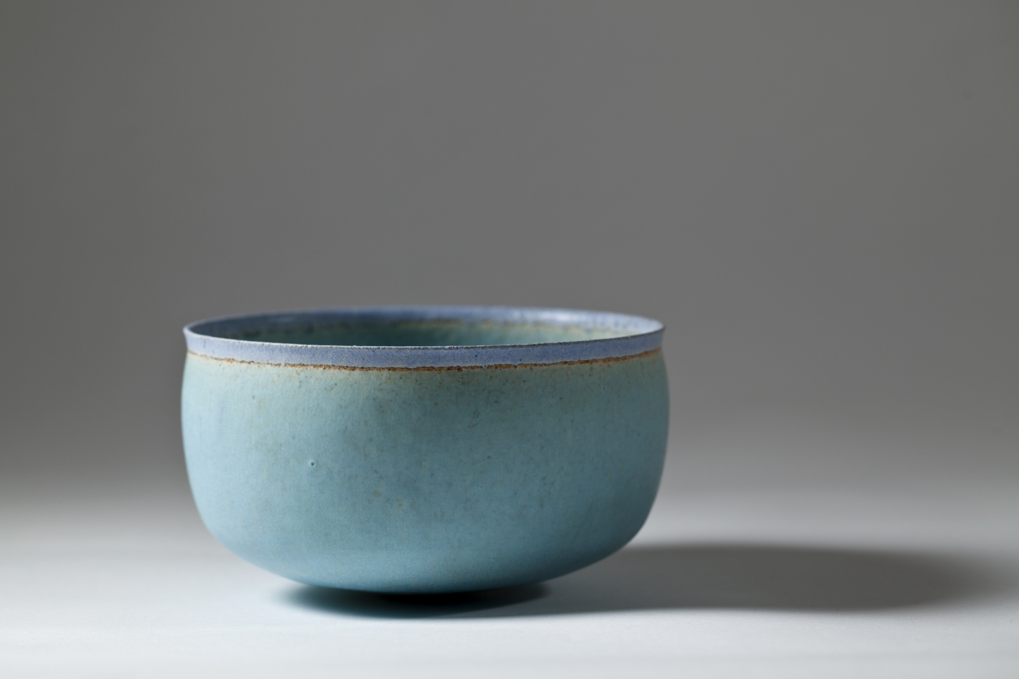 Hover to zoom & Alev Siesbye Unique Stoneware Bowl 1987   Kunstconsult