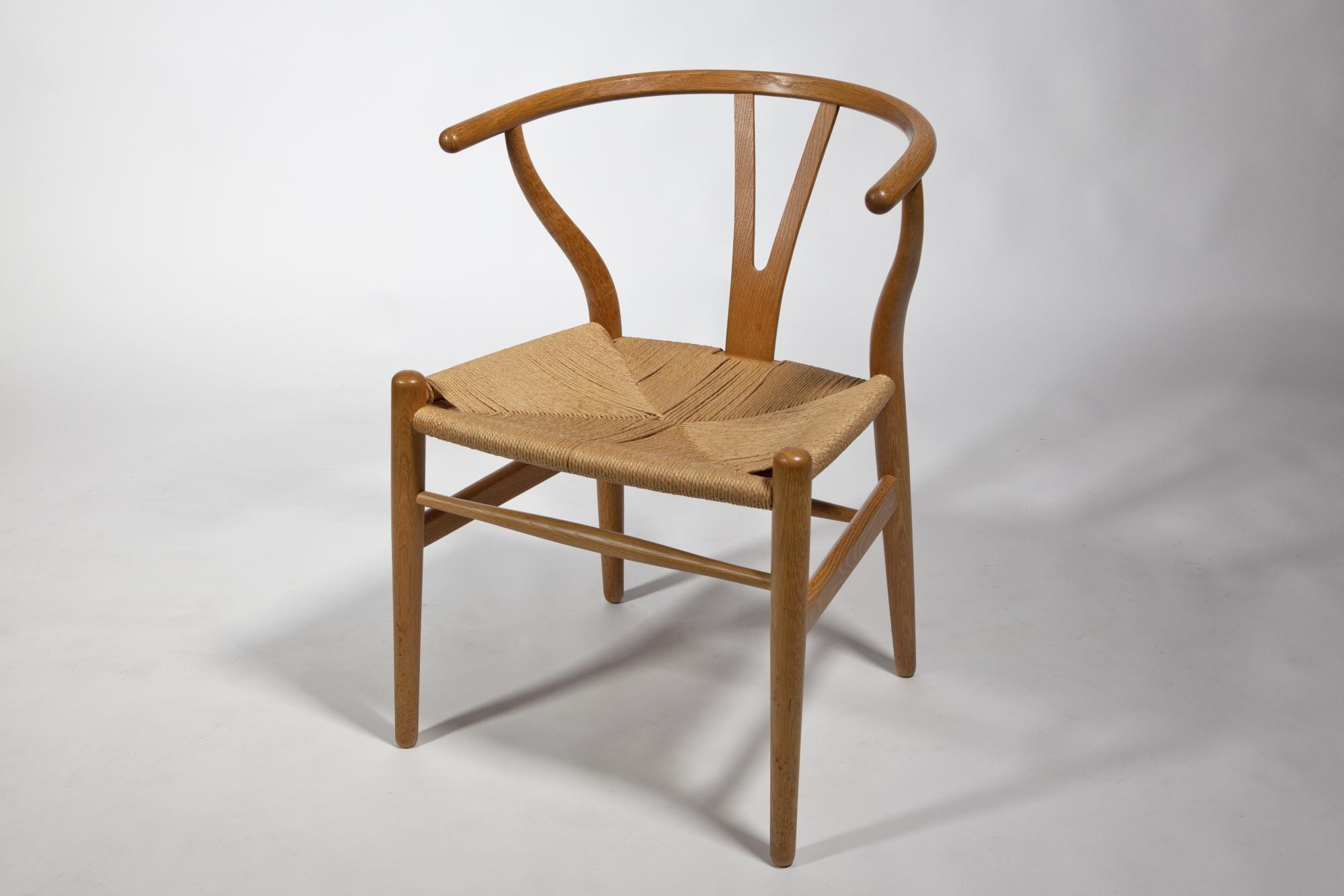Hans Wegner Stoel : Hans wegner wishbone or y chair model ch designed carl