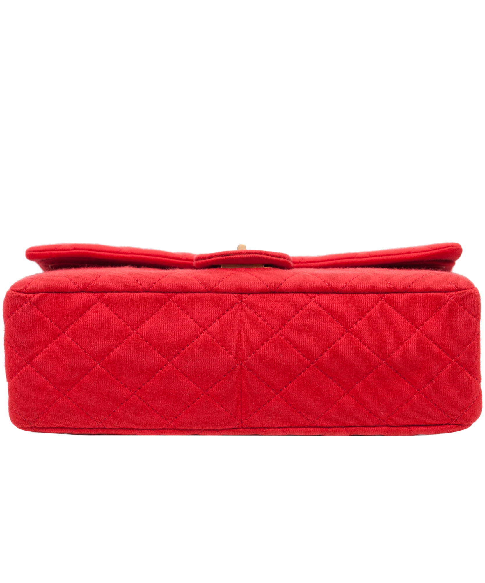 56304ec4901a Chanel Red 2.55 Reissue Quilted Classic Jersey 227 Jumbo Flap Bag ...