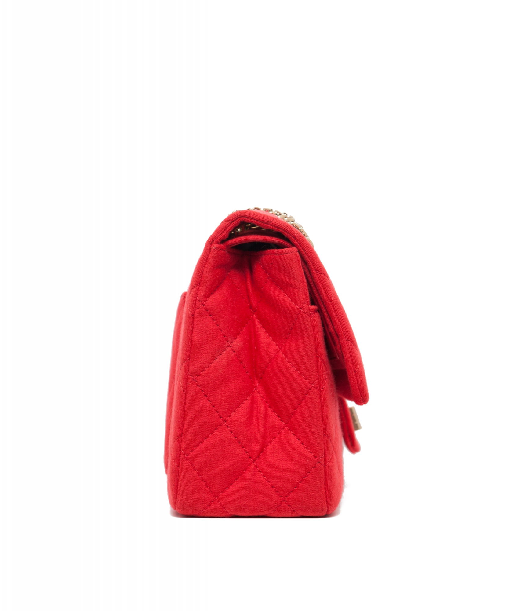 861e1e16c37d ... Chanel Red 2.55 Reissue Quilted Classic Jersey 227 Jumbo Flap Bag.  Touch to zoom
