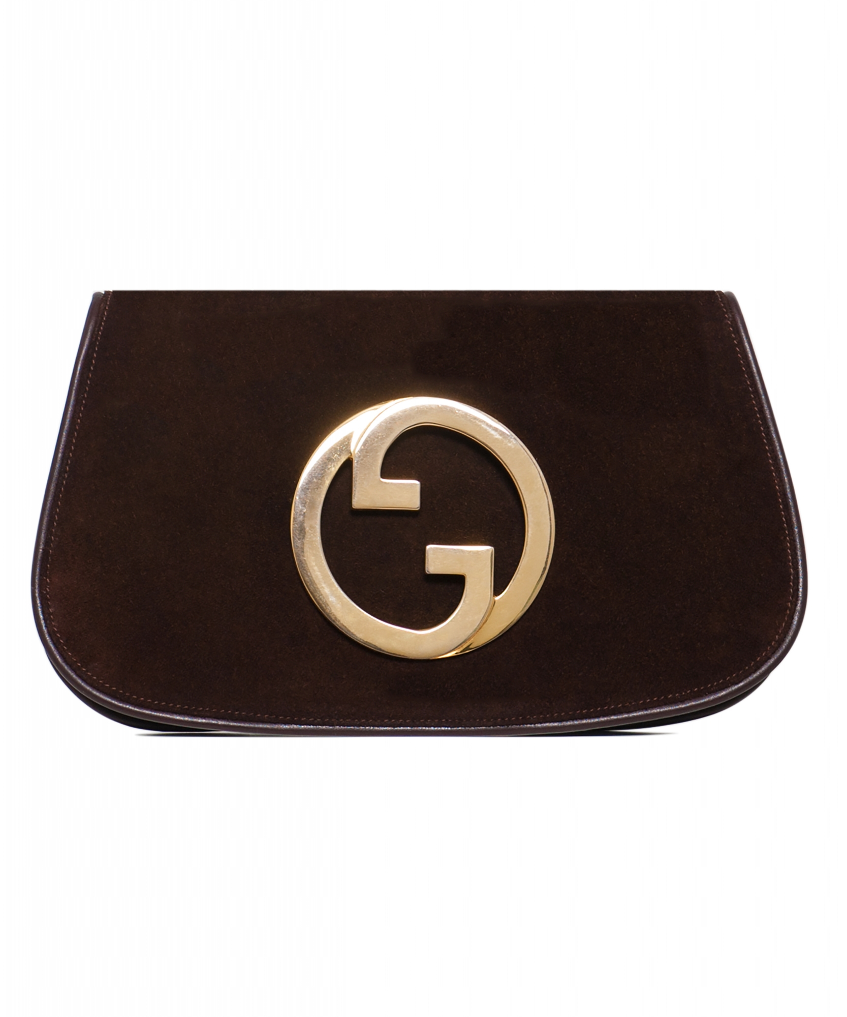 d3eb2558433567 Vintage Gucci Brown Suede Blondie Clutch | La Doyenne
