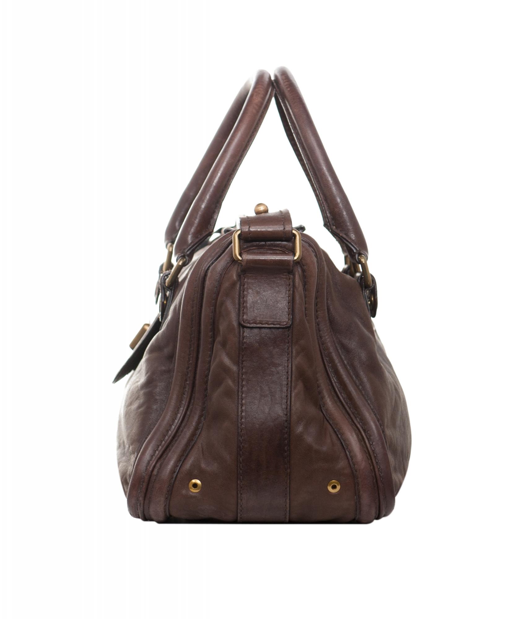 9a3d81807c4ea1 Chloé Brown Leather Ava Tote Bag | ArtListings