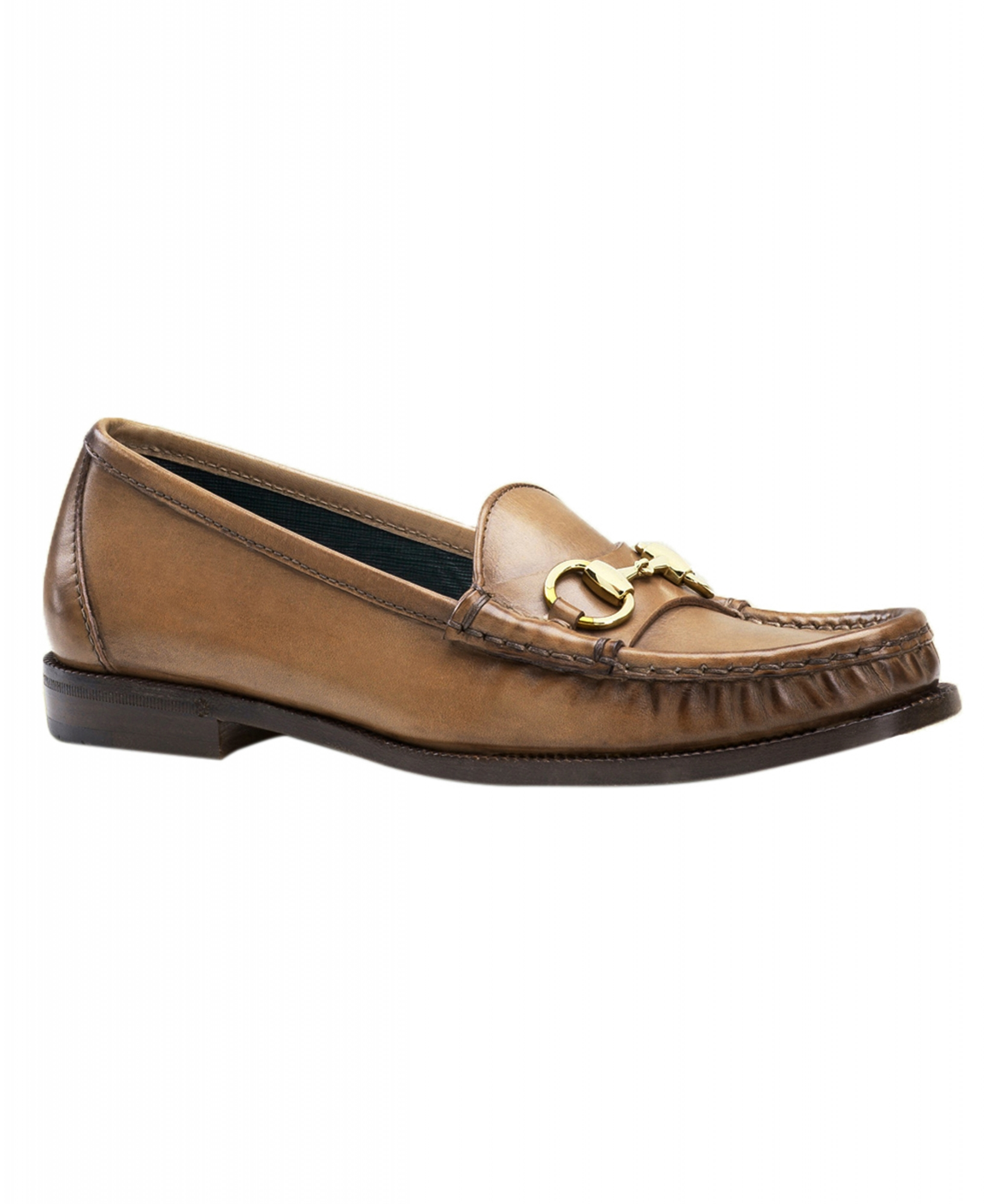fc62bae78d5 Gucci Women s Brown Hand Shaded Leather 1921 Horsebit Loafers Shoes ...