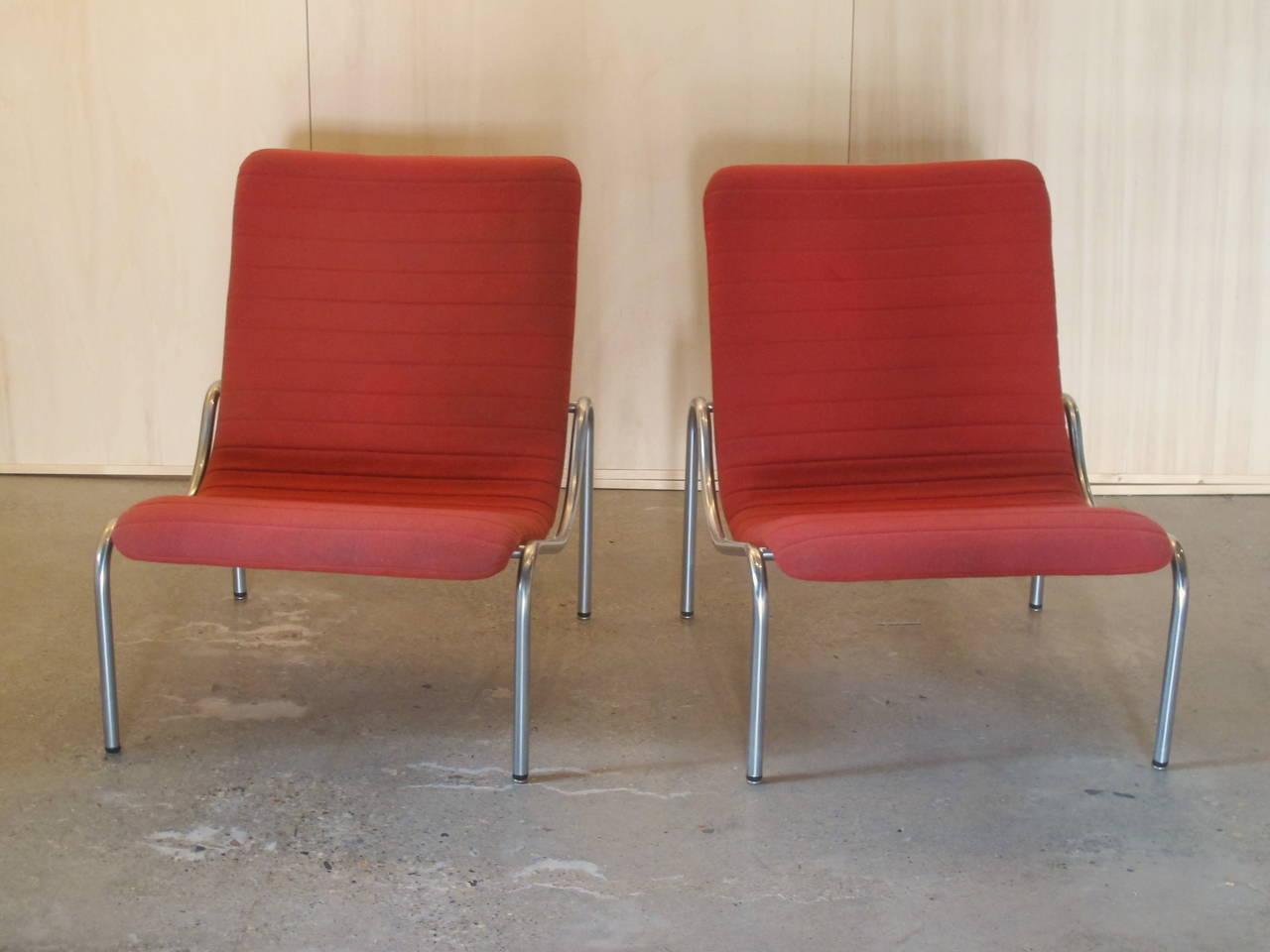 Stoel Metalen Frame : Kho liang ie stoel met verchroomd metalen frame model 703 ontwerp