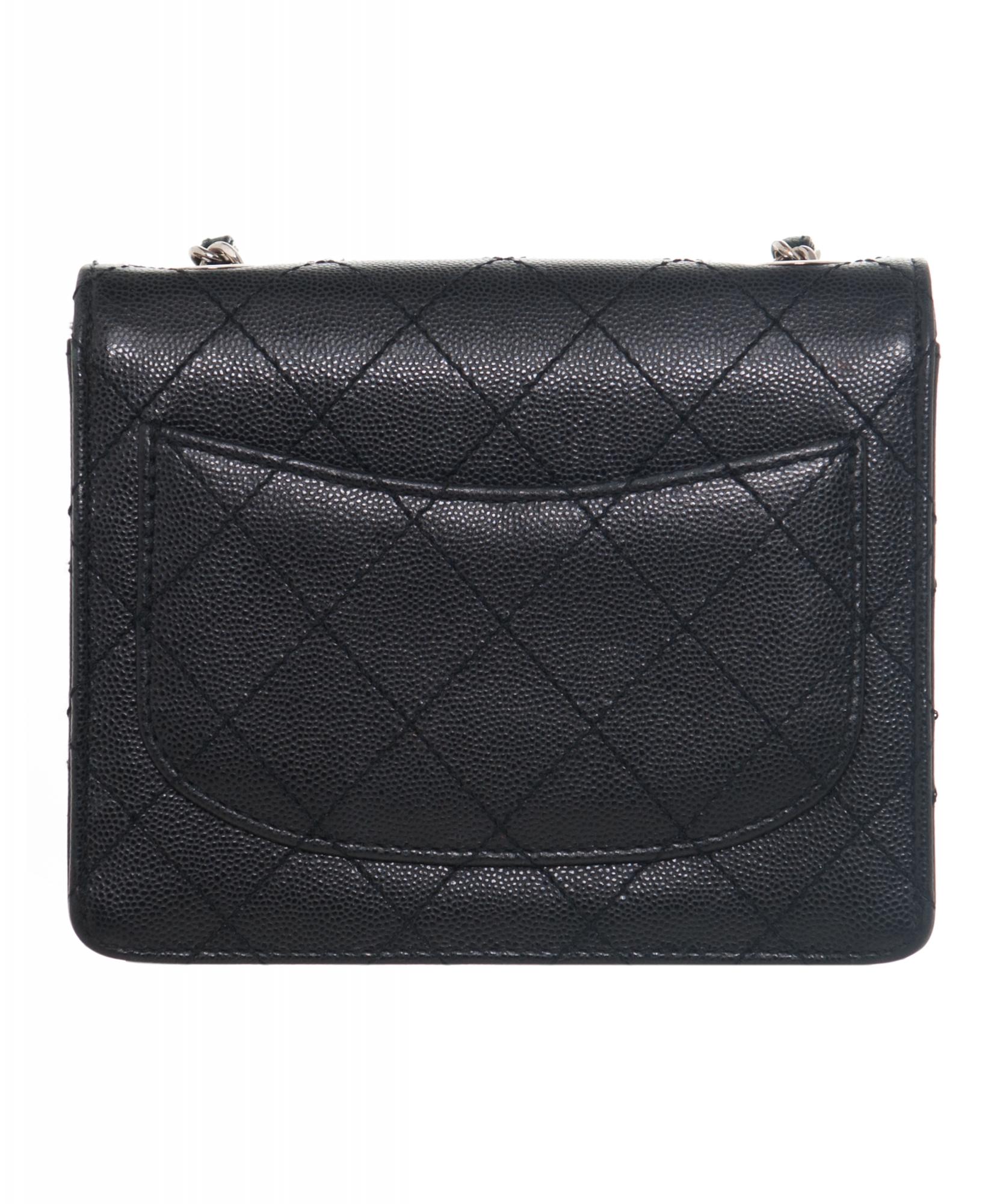 Chanel Vintage Black Caviar Quilted Mini Flap Bag  31182b2952503