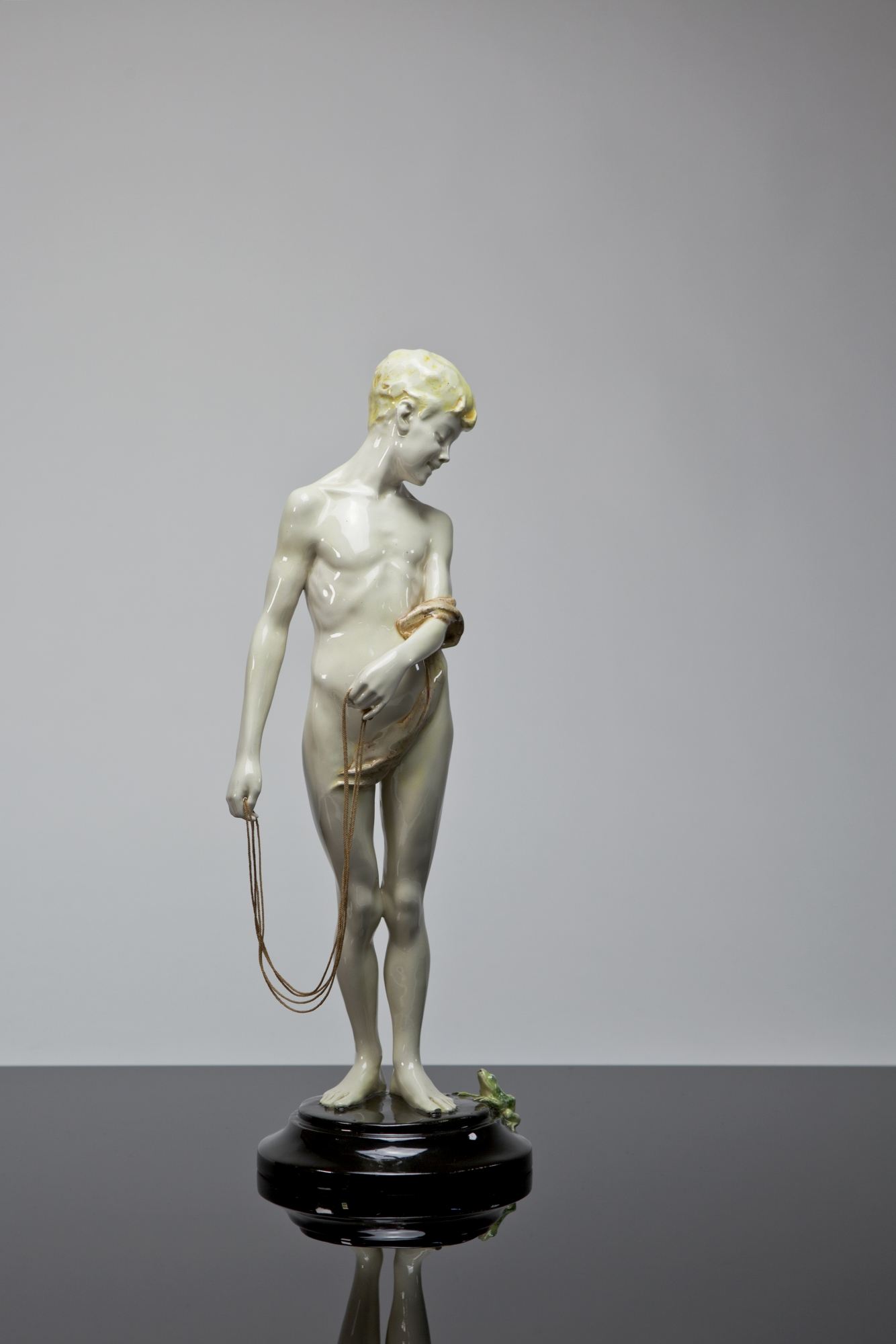 Toon Dupuis Art Nouveau Sculpture Of A Boy With Skipping Rope Body Skip Design 1904 1907 Execution Voorheen Amstelhoek 1910 Kunstconsult