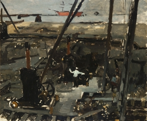Construction work in Amsterdam - George Hendrik Breitner