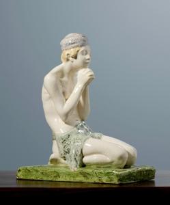 August Falise, Knielende Javaanse jongen, ontwerp 1904-1907, uitvoering Voorheen Amstelhoek, 1907-1910 - August Falise
