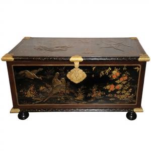 A rare European lacquer chest
