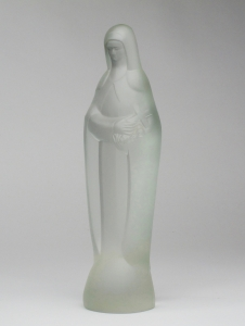 Steph Uiterwaal, Pressed glass sculpture of Saint Therese, designed in 1932, executed by Glass Factory Leerdam - Steph Uiterwaal